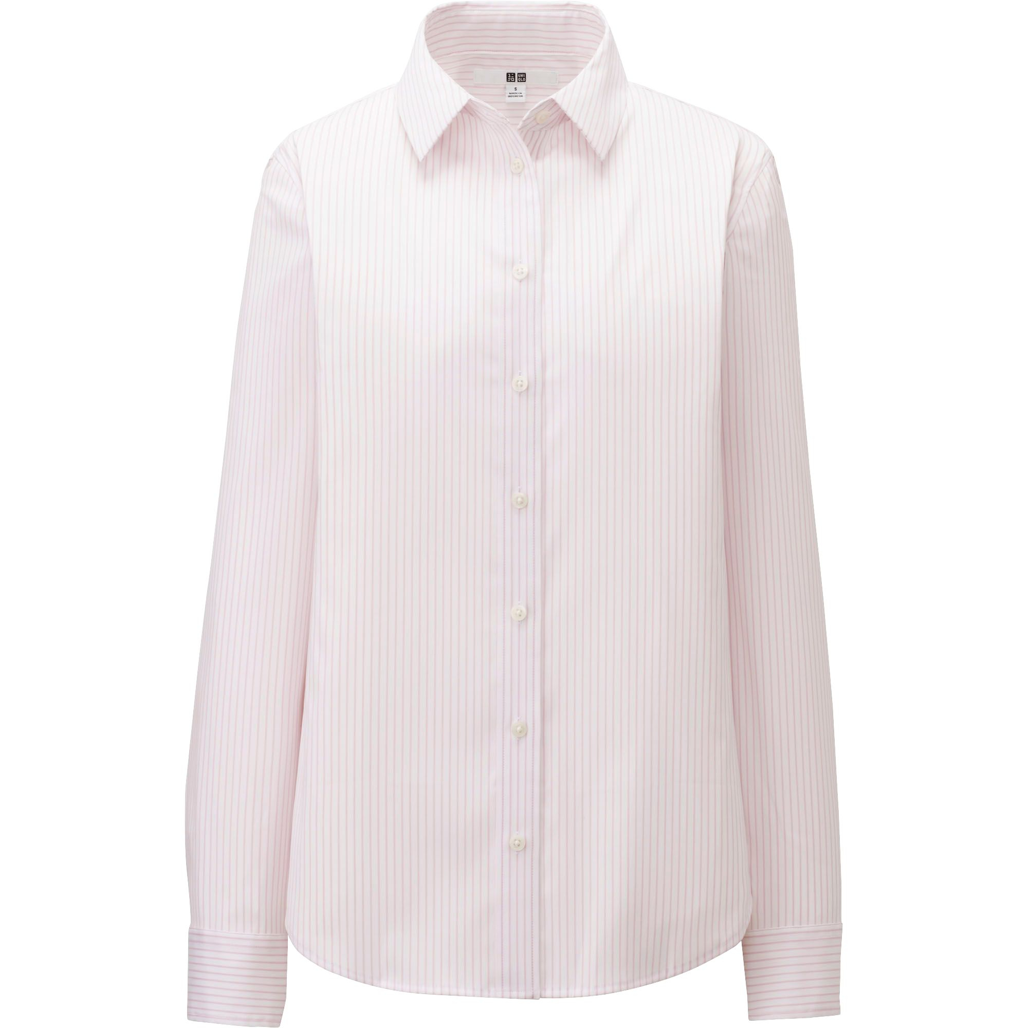 Uniqlo supima cotton stretch striped long sleeve shirt in for Supima cotton dress shirts