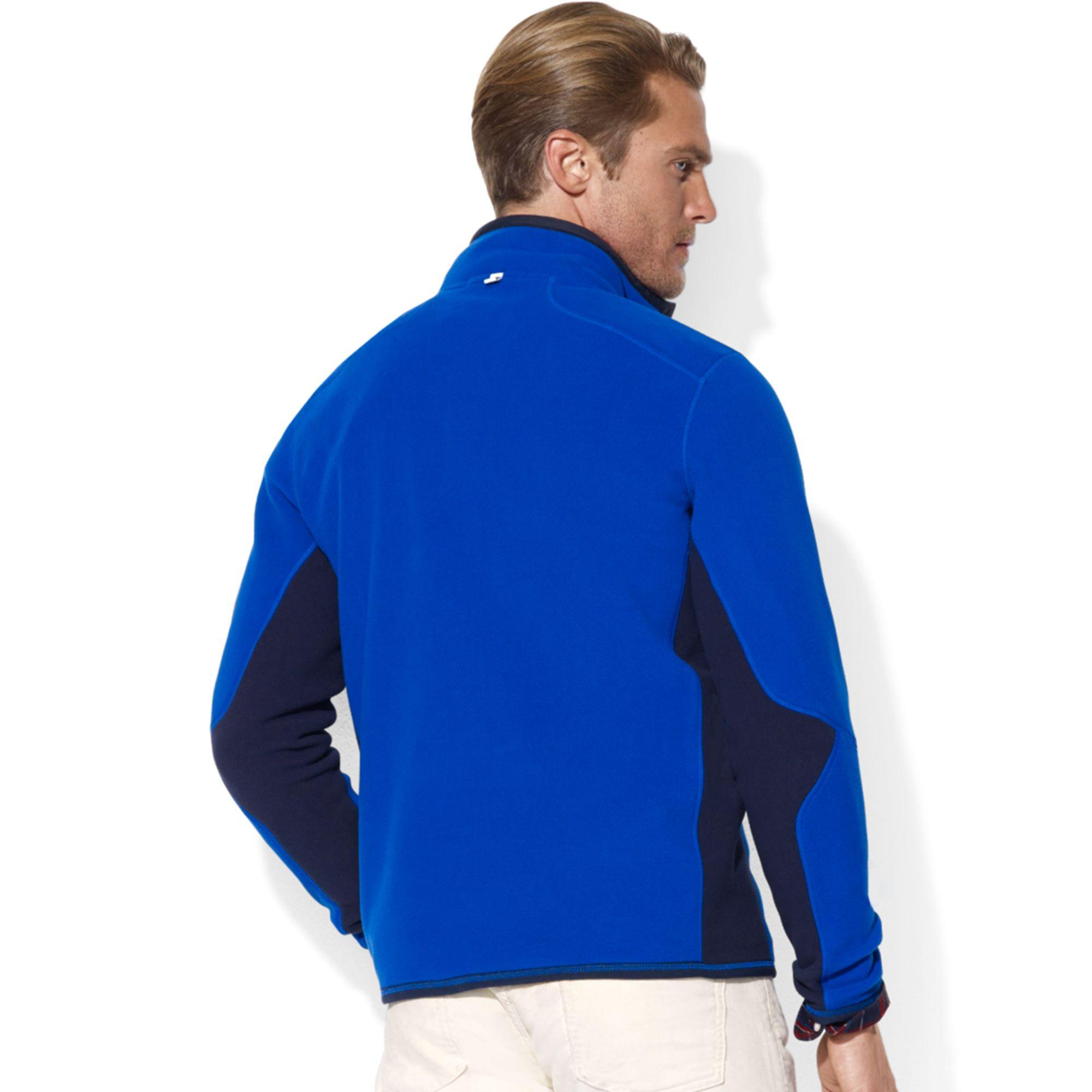 Ralph lauren Usa Polar Mock Neck Fleece Jacket in Blue for Men | Lyst