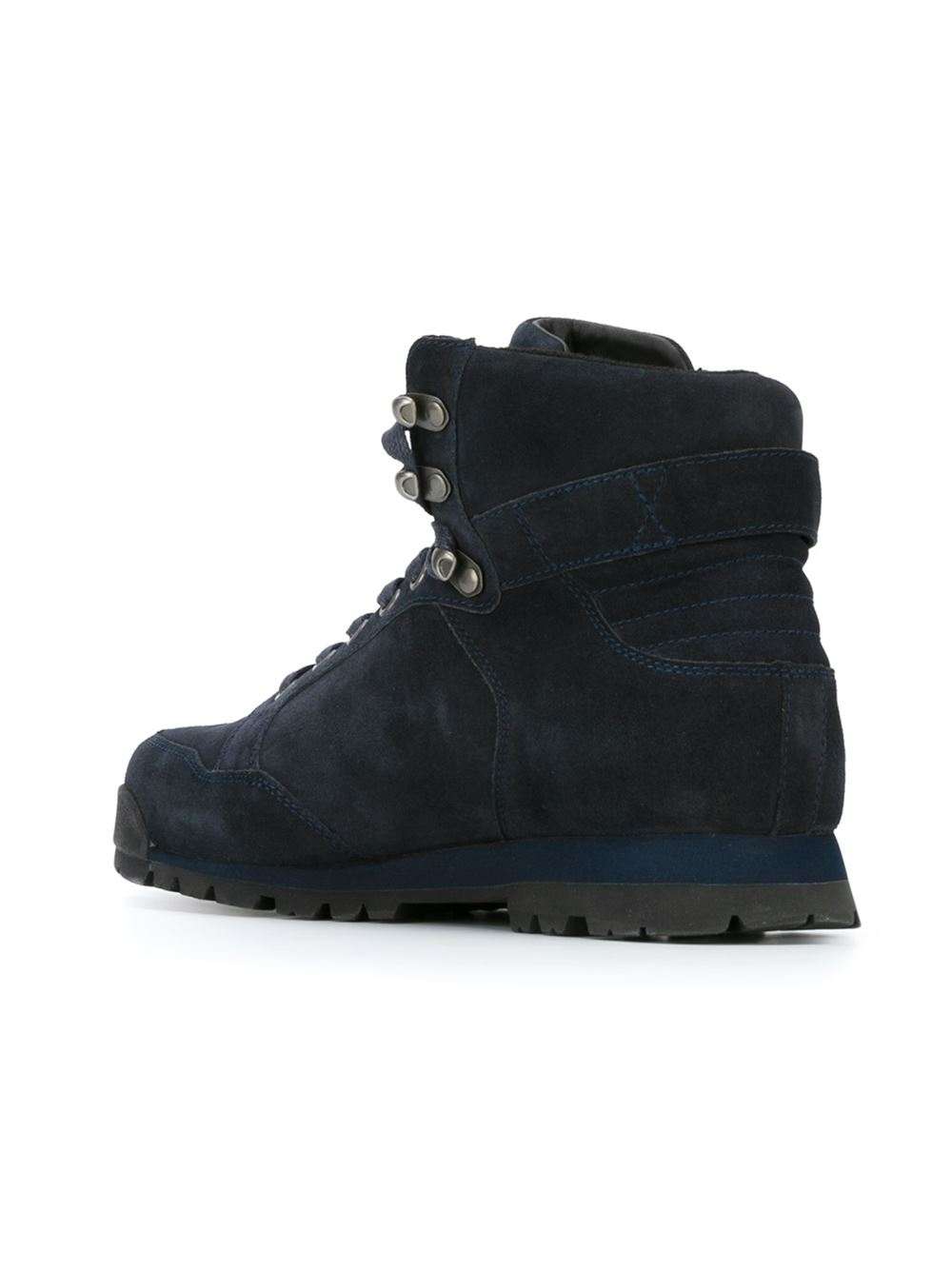 Armani Jeans Lace Up Boots In Blue For Men Lyst