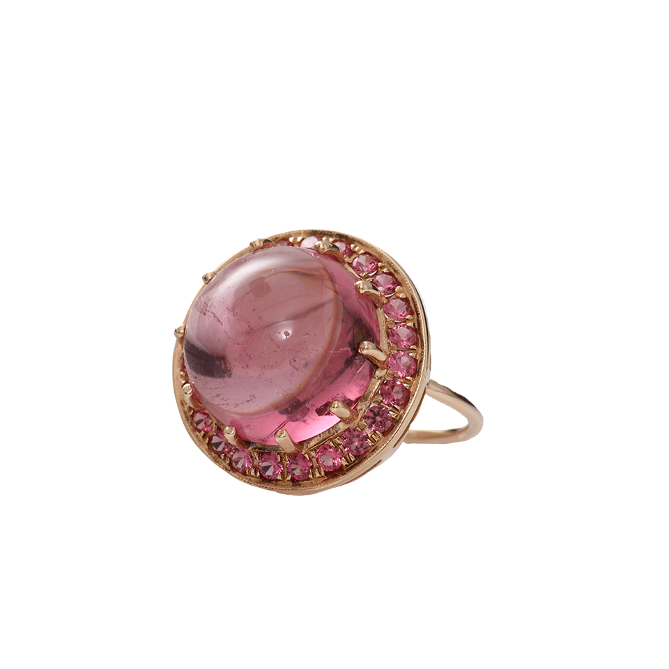 Lyst Andrea Fohrman Cabochon Pink Tourmaline Ring In Pink
