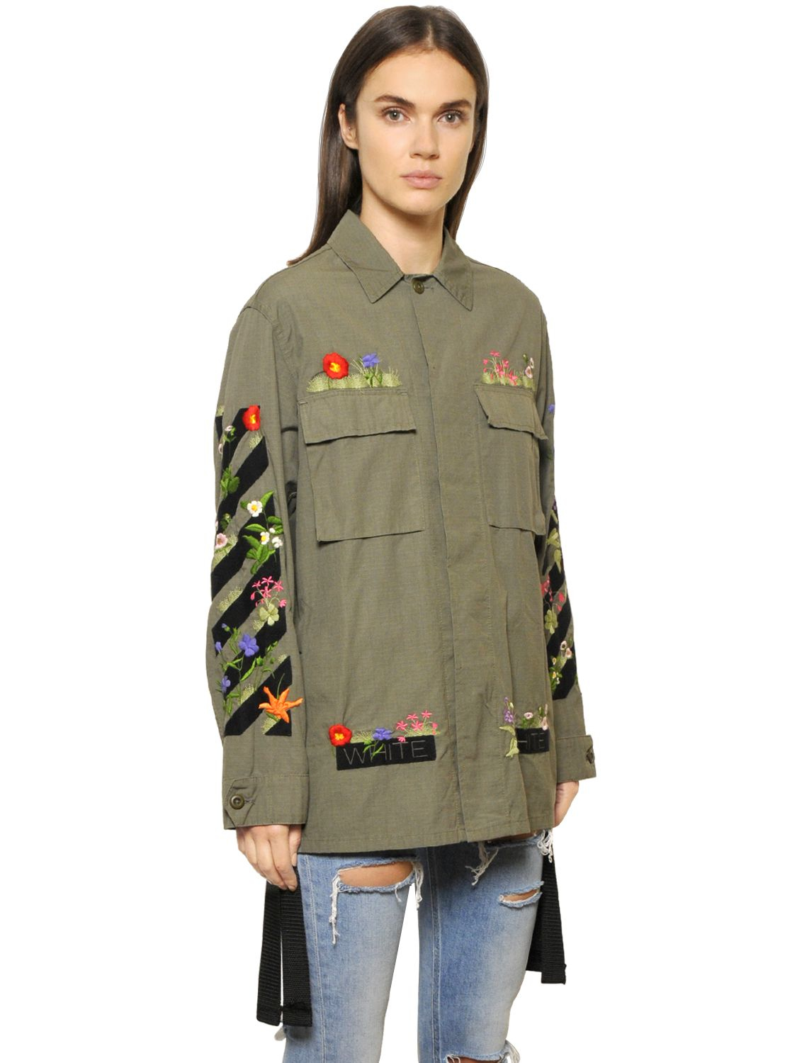 Lyst off white c o virgil abloh embroidered cotton