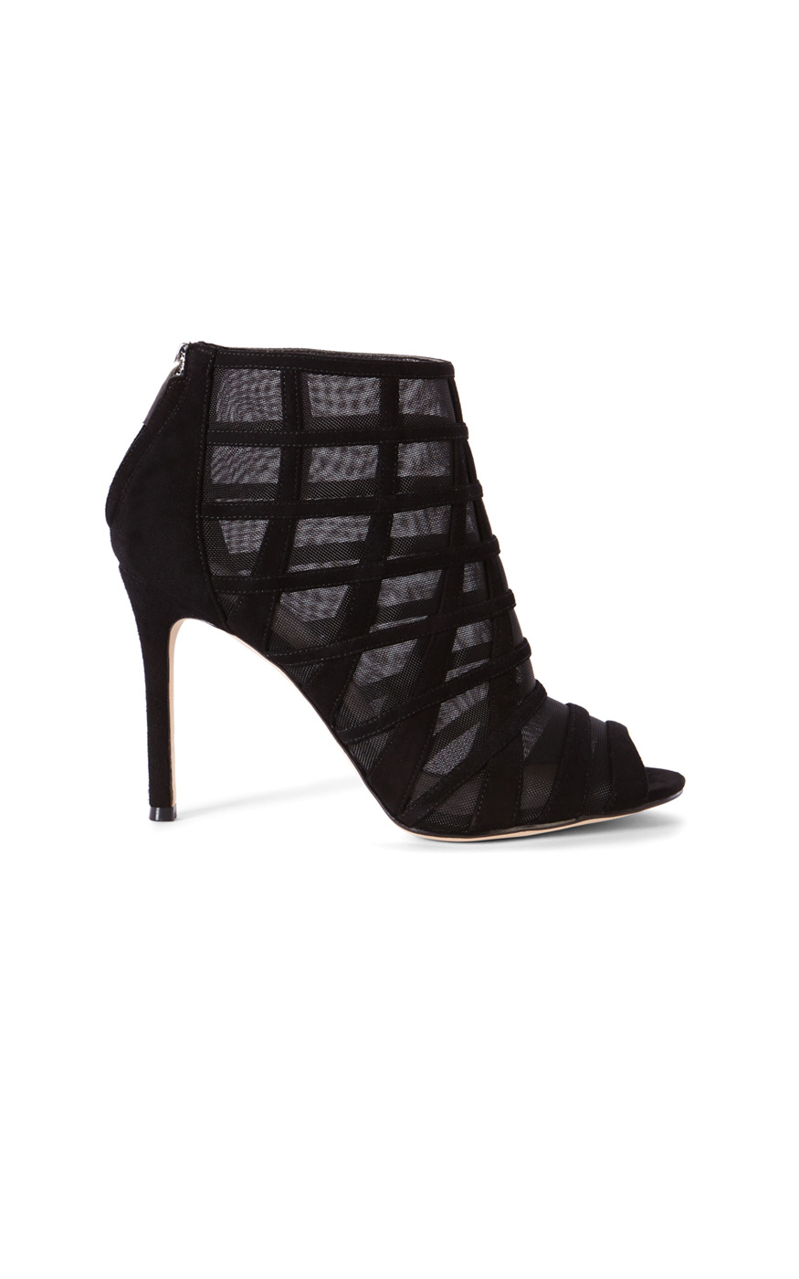 millen mesh and suede shoe boot in black save 40