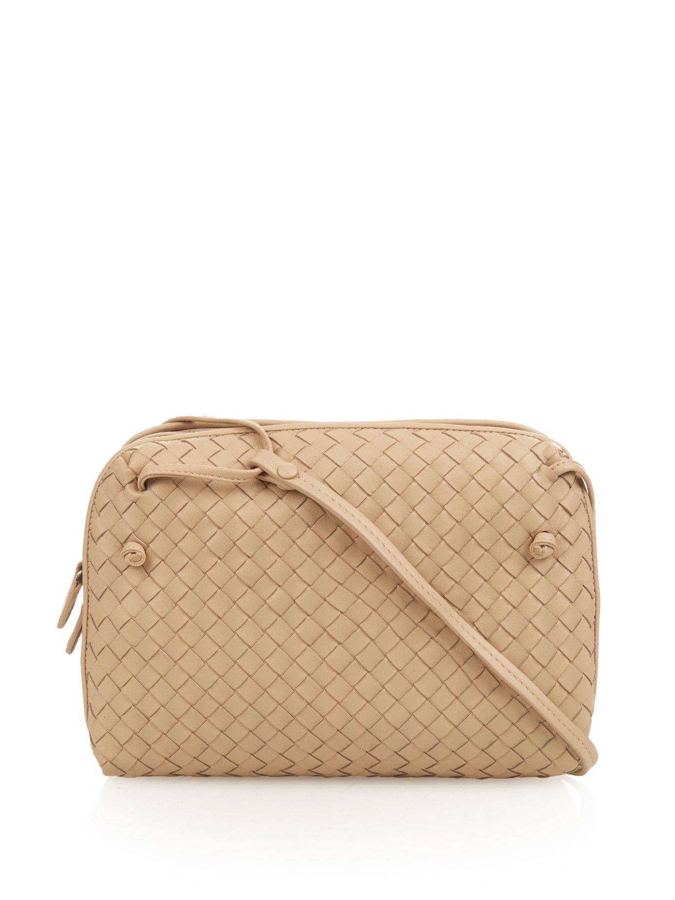 5ab87fc4a3 Bottega Veneta Intrecciato Leather Two-compartment Cross-body Bag in ...