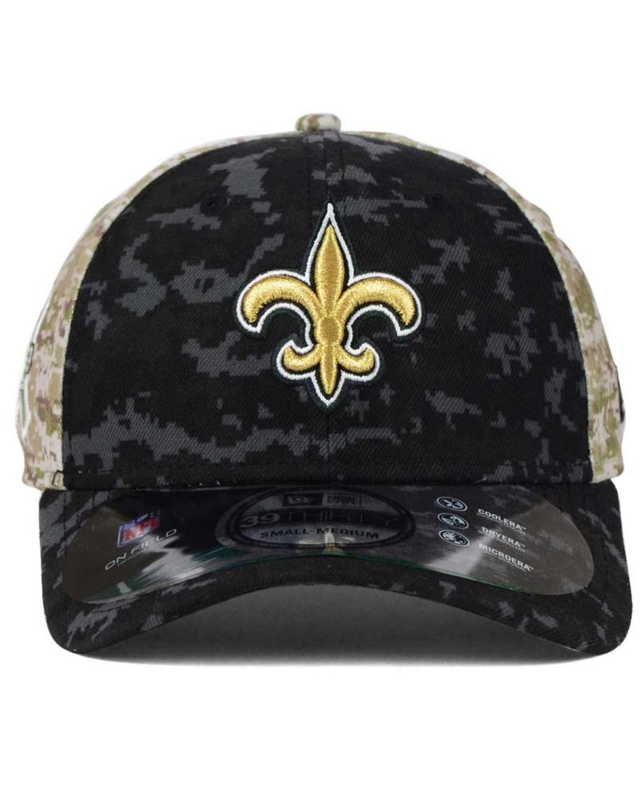 Lyst - KTZ New Orleans Saints Salute To Service 39thirty Cap in ... a3987b098