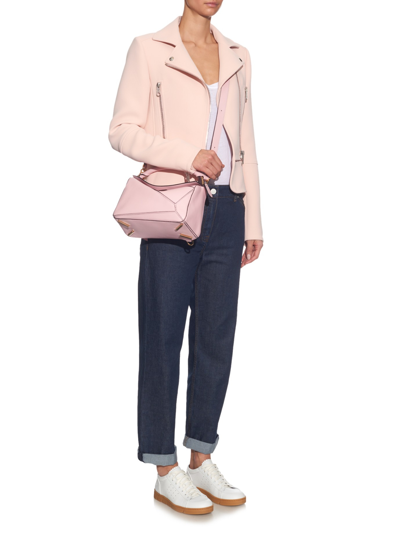 1a30545366cf Loewe Puzzle Small Leather Bag in Pink - Lyst