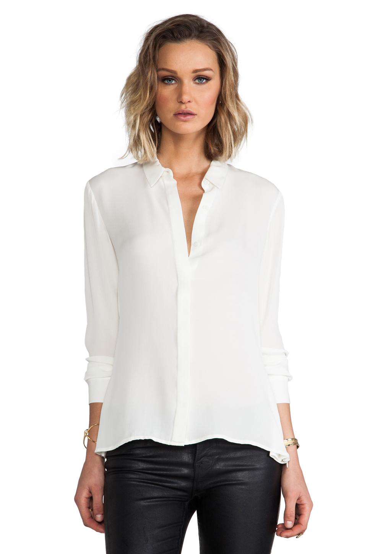 Lyst Theory Driya Silk Blouse In White In White