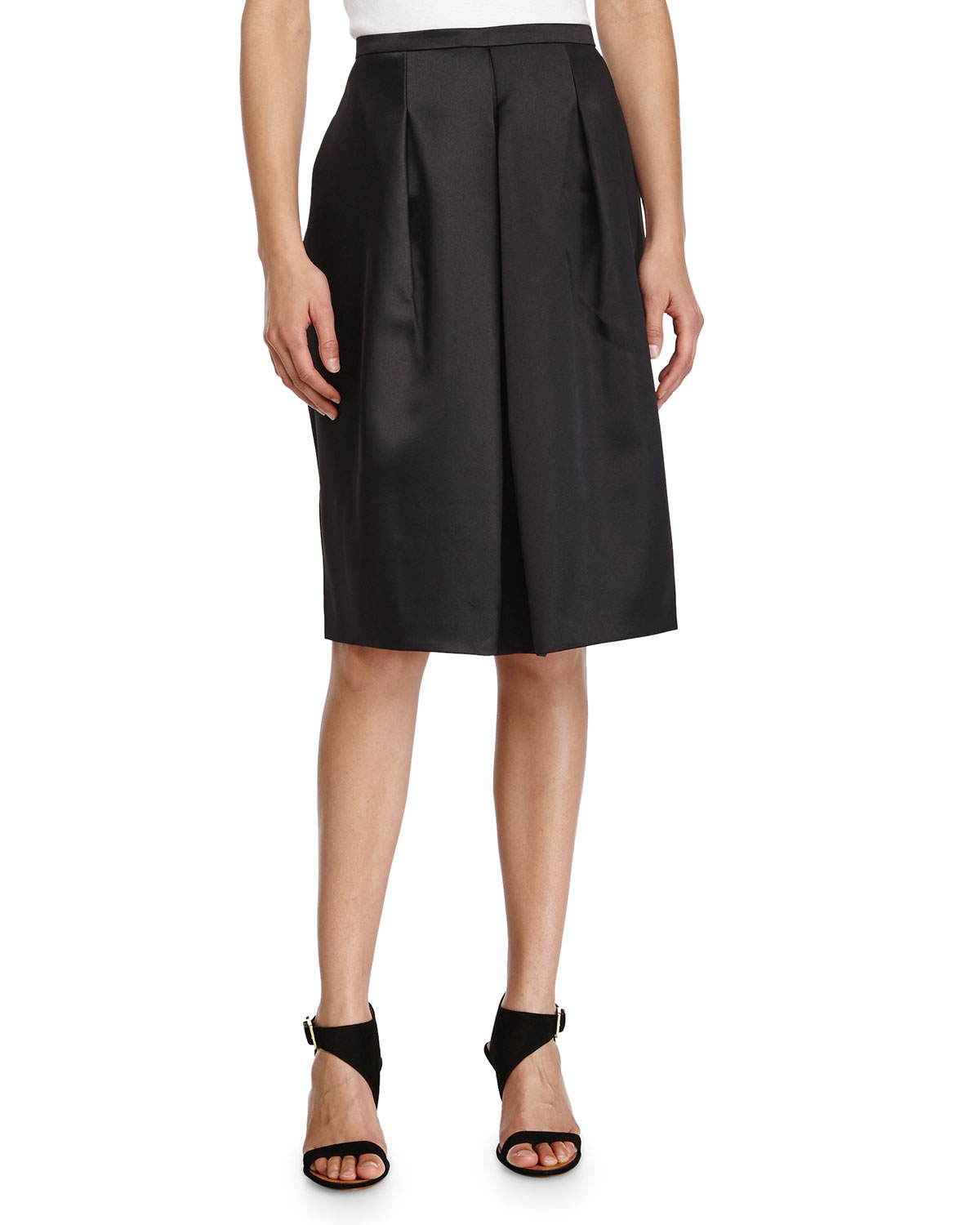 front pleated a line skirt in black lyst