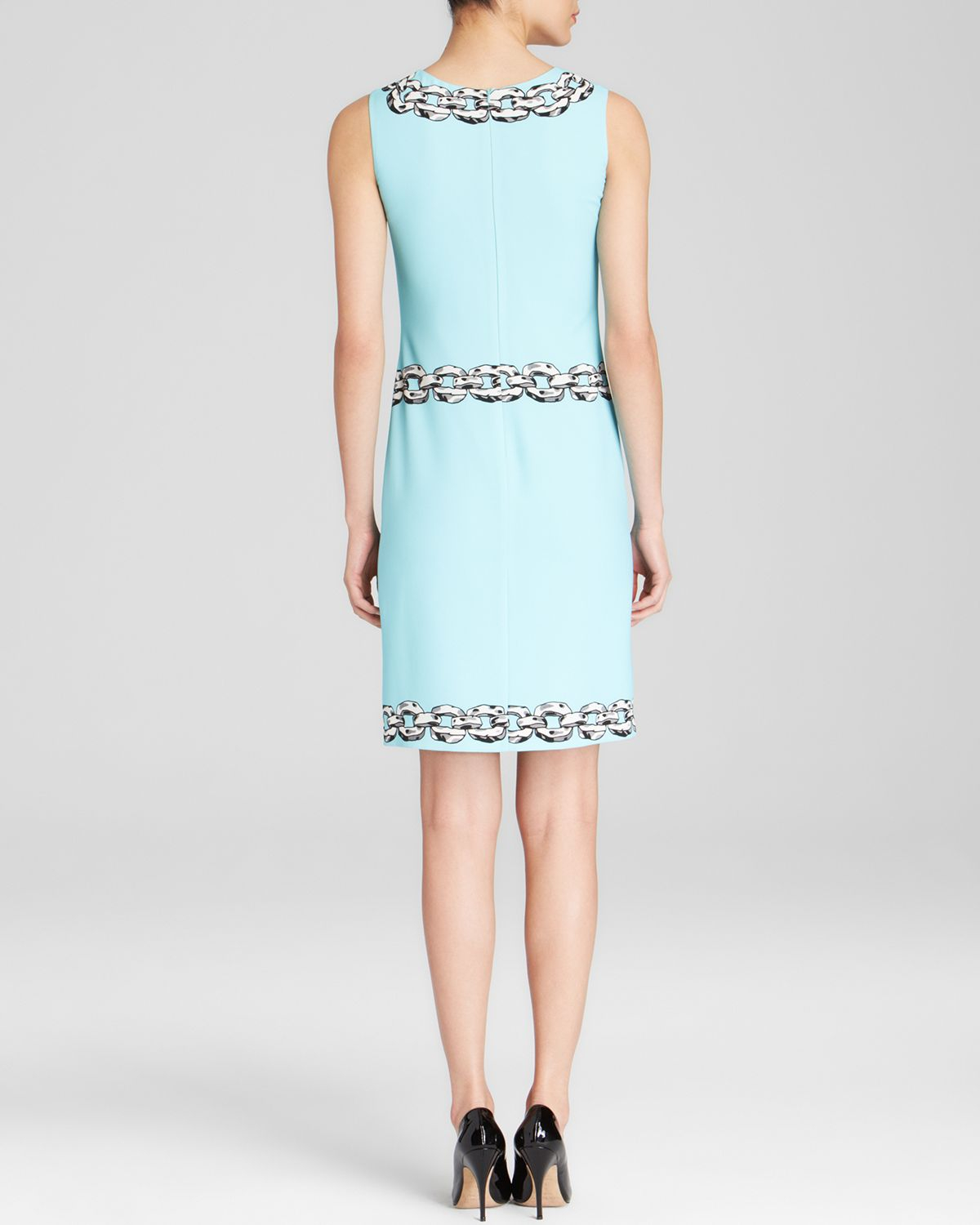 Lyst Boutique Moschino Dress Chain Print In Blue
