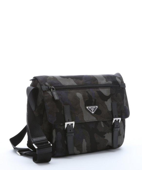 1cc64045bcaa9f ... where can i buy lyst prada grey and black camouflage nylon medium  messenger bag in gray