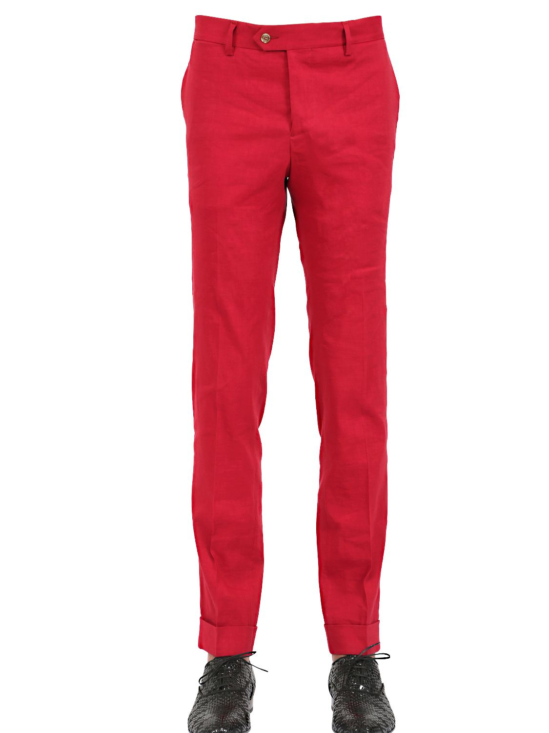 Montezemolo 18cm Stretch Linen & Viscose Blend Pants in Red for ...