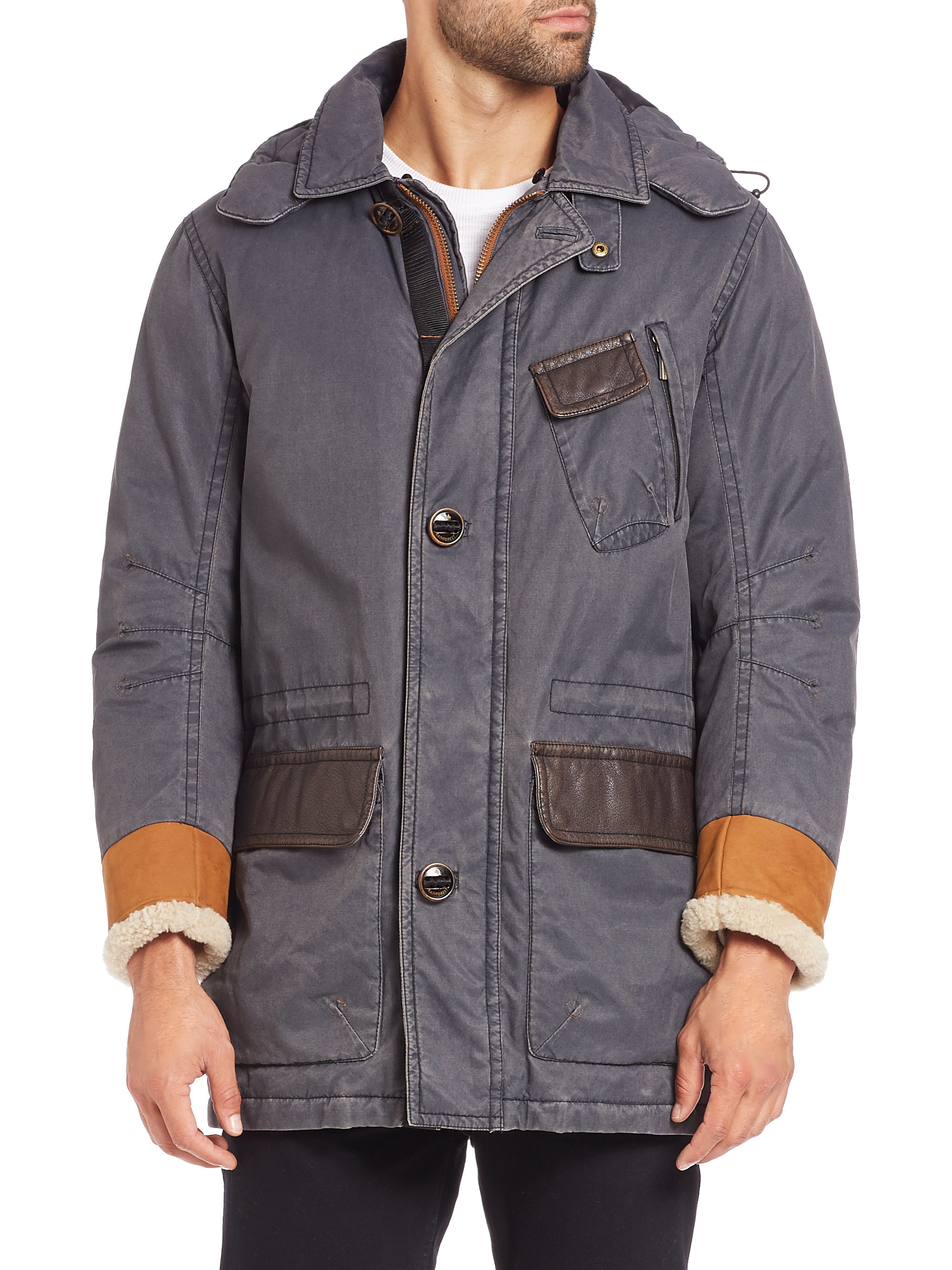 Rainforest Waxed Cotton Parka in Gray for Men | Lyst