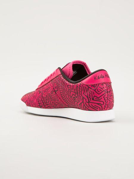 reebok princess sneakers in pink pink amp purple lyst