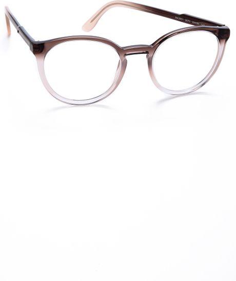 Glasses Frame Fading : Stella Mccartney Gradient Frame Glasses Brown Fade in ...