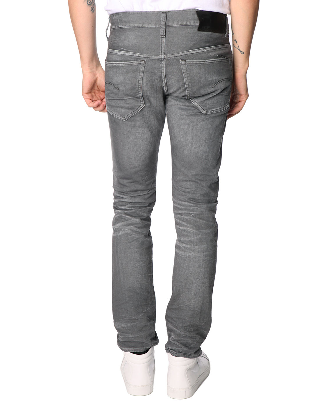 g star raw 3301 super slim fit grey jeans in gray for men. Black Bedroom Furniture Sets. Home Design Ideas