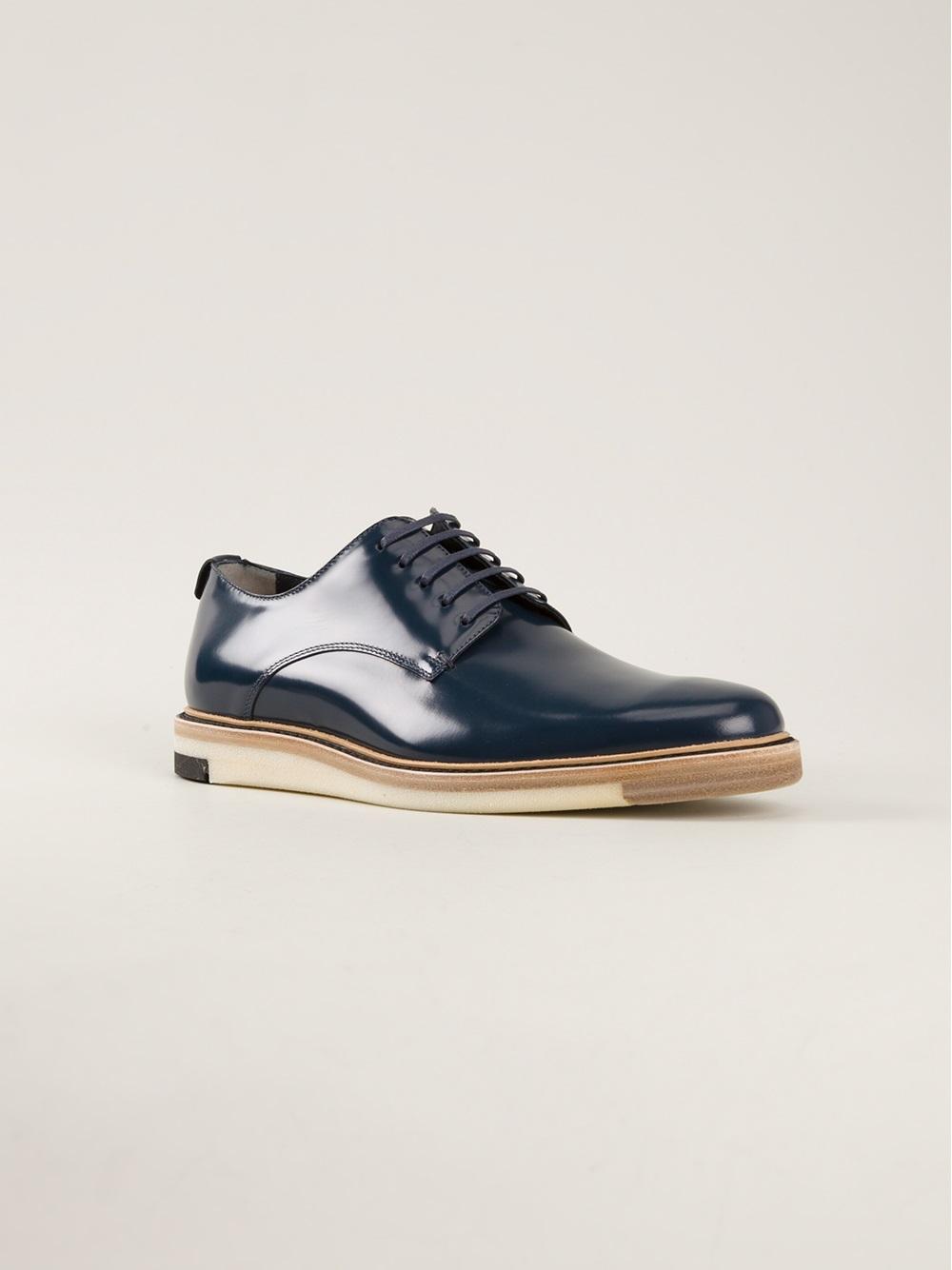 Fendi Derby Shoes in Blue for Men