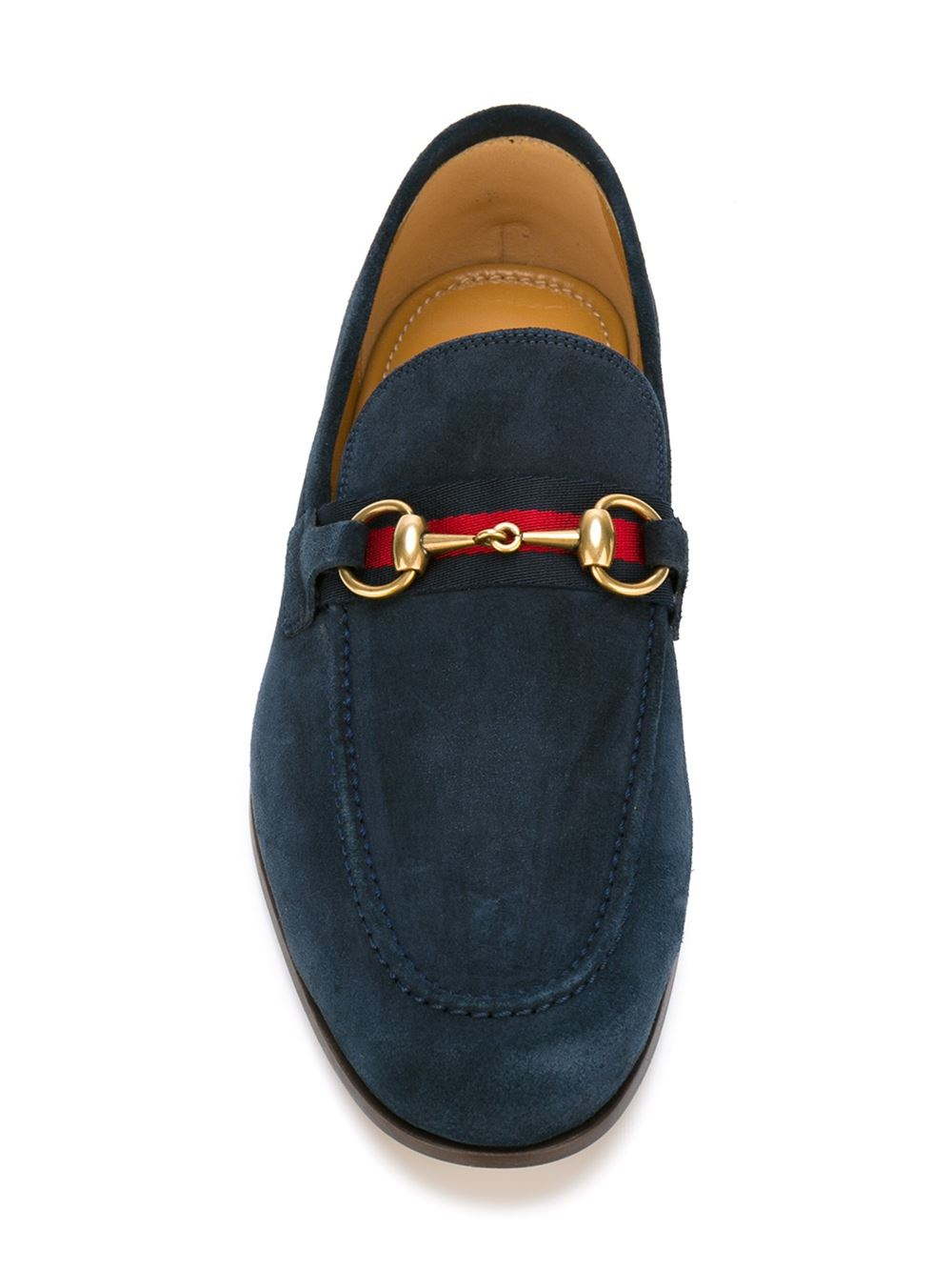 1040b6280 Gucci Suede Loafers in Blue for Men - Lyst