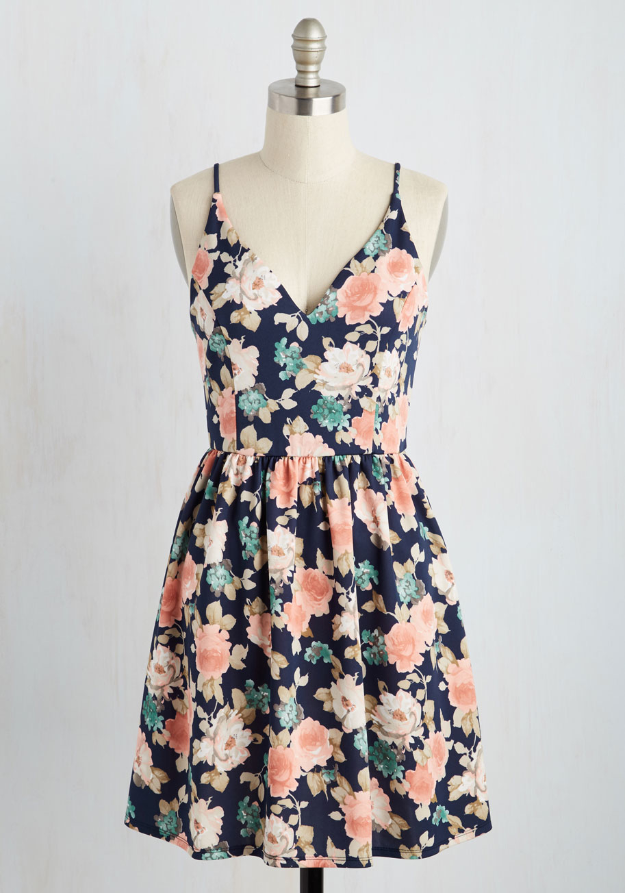 Hello miss Find Your Grace In The Sun Dress In Navy in ...