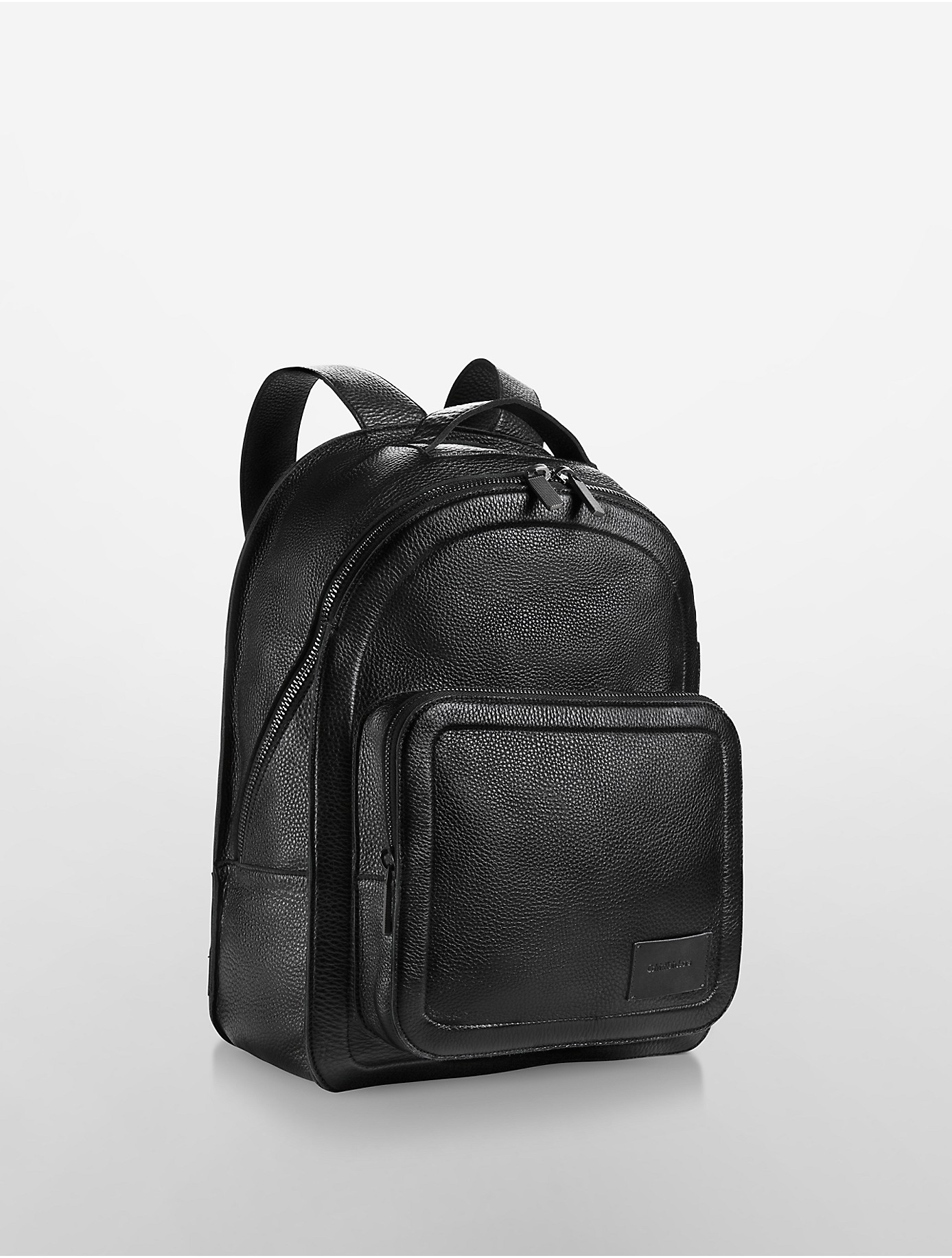 96f123898017 Lyst - Calvin Klein Jeans Infinite Leather Backpack in Black