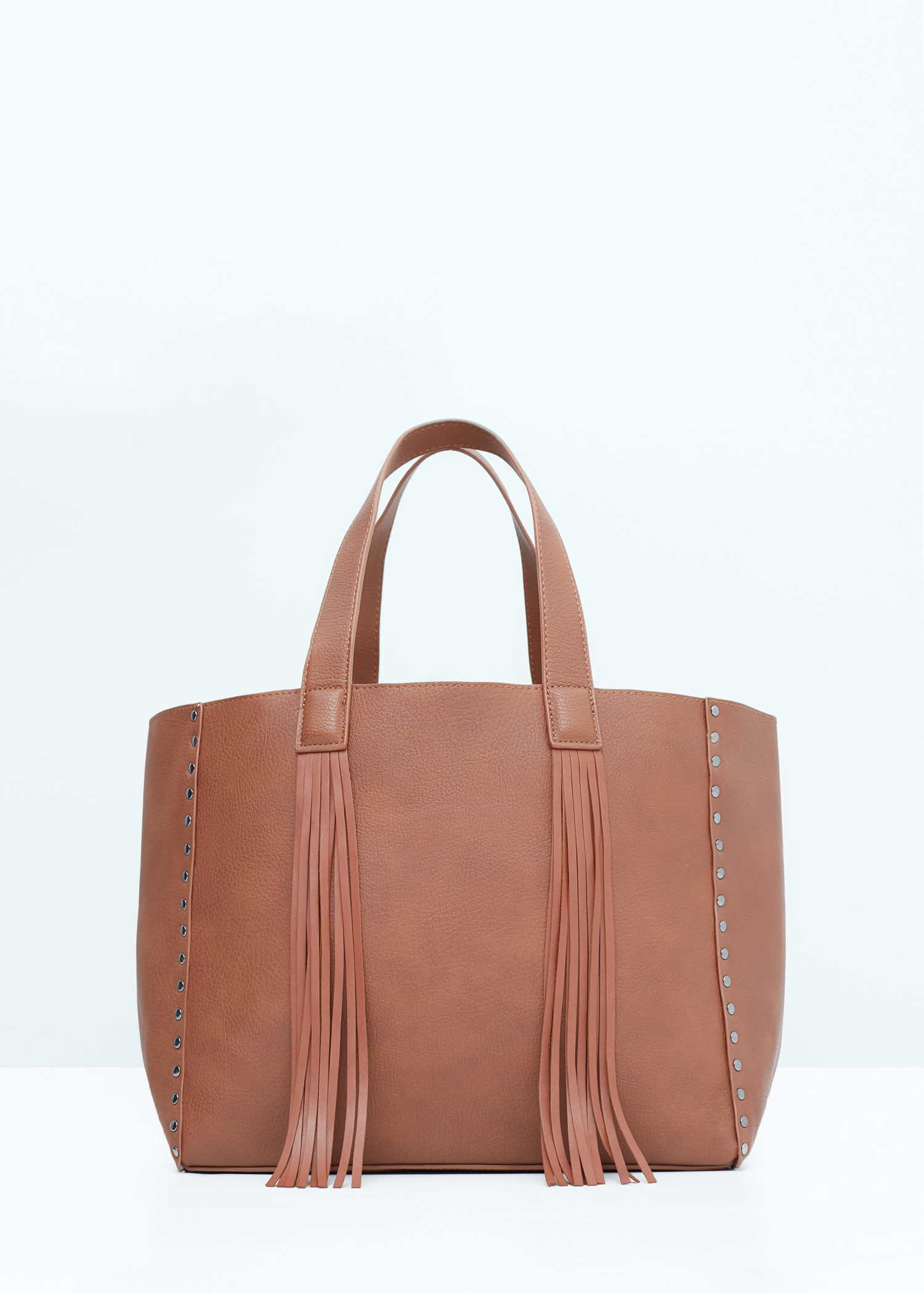 Simple Mango Texture Leather Bag In Brown  Lyst