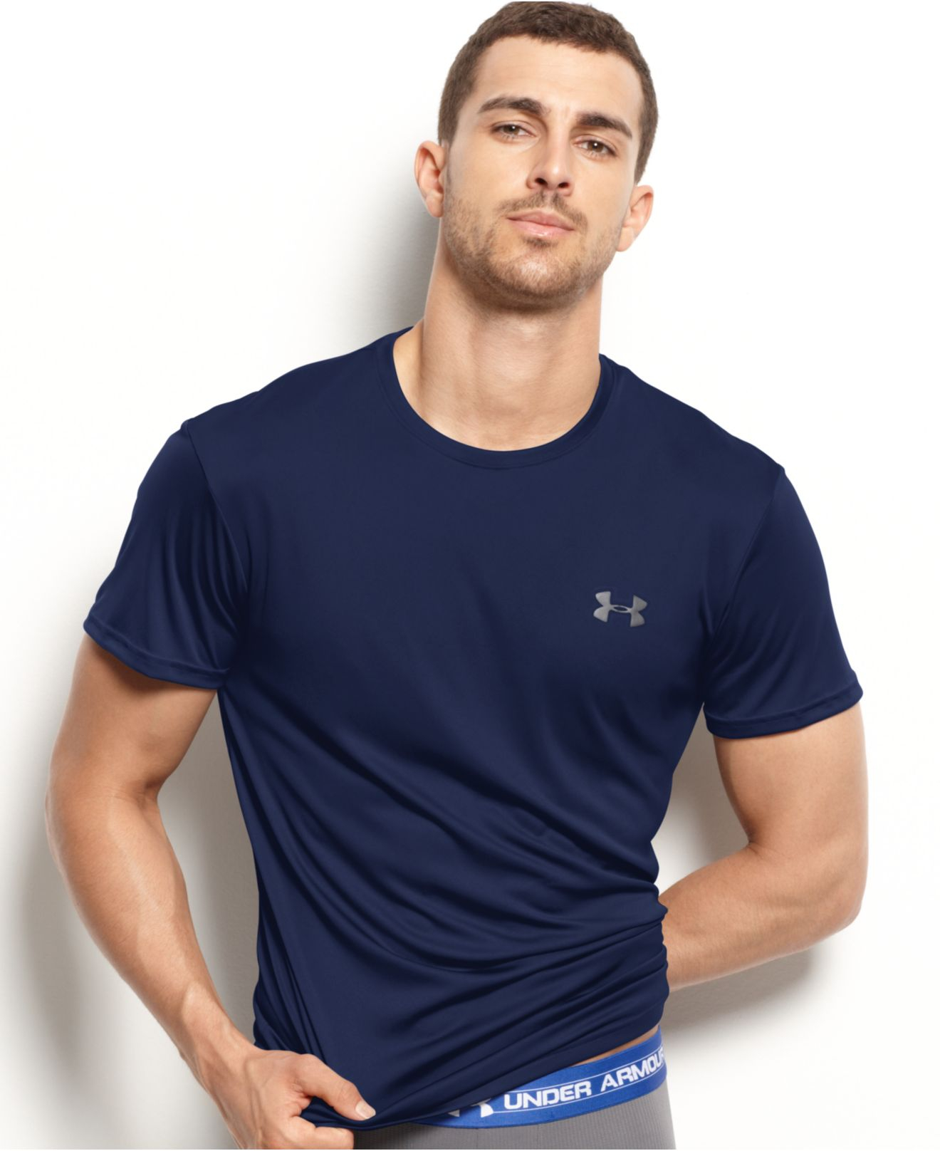 a700d944f8 Under Armour Blue Men's Athletic Flyweight Performance Short-sleeve  Crew-neck T-shirt for men