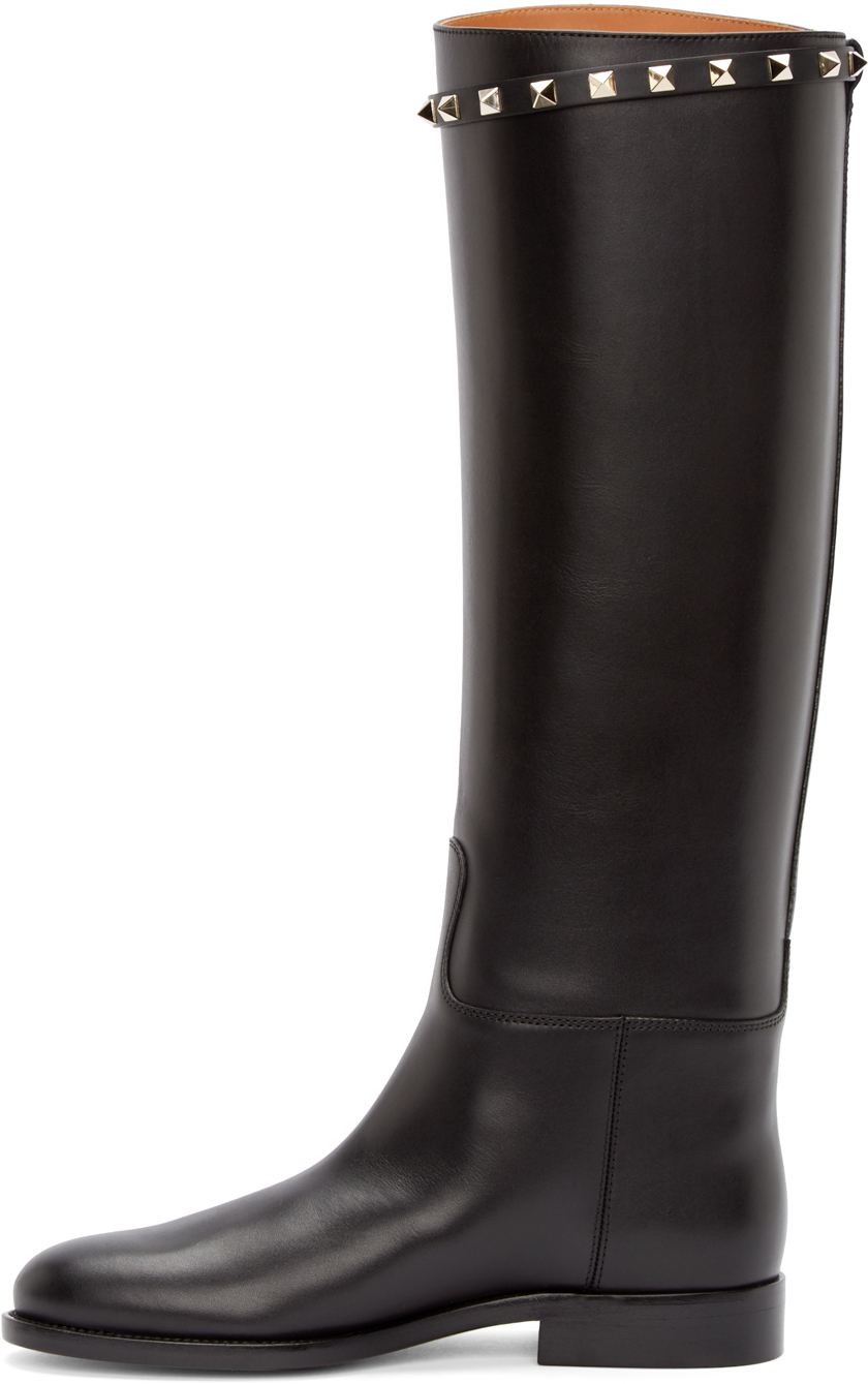 Valentino Leather Riding Boots kDWH9KfnA