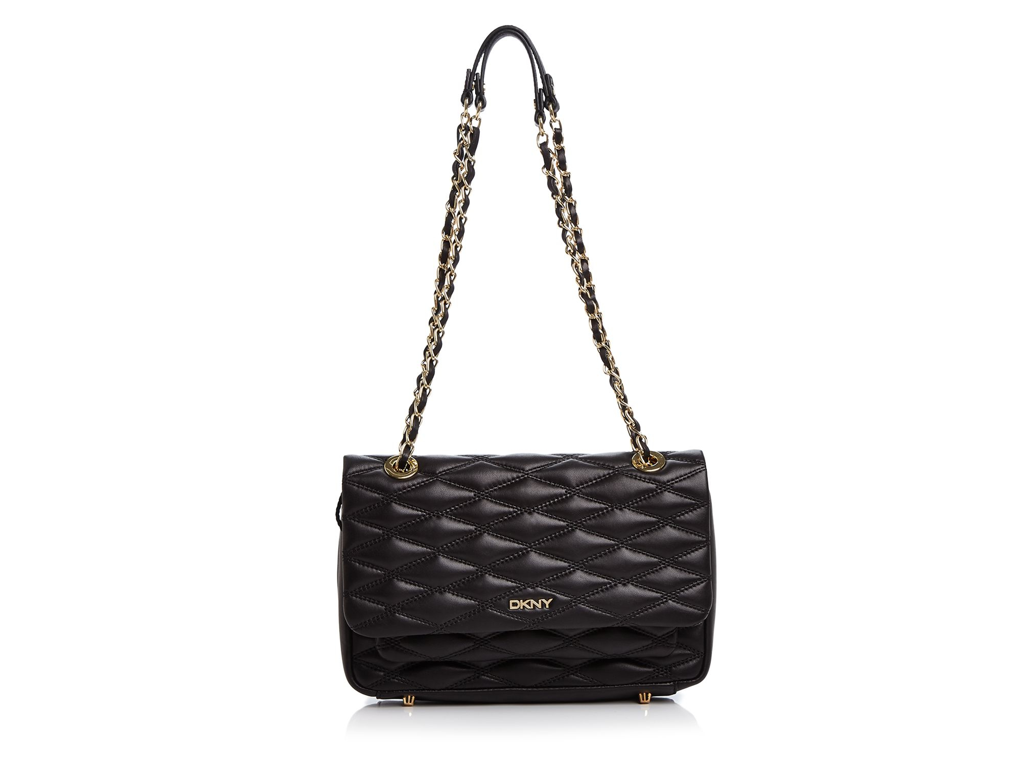 Lyst - Dkny Gansevoort Quilted Nappa Flap Pocket Shoulder Bag in Black : dkny black quilted purse - Adamdwight.com