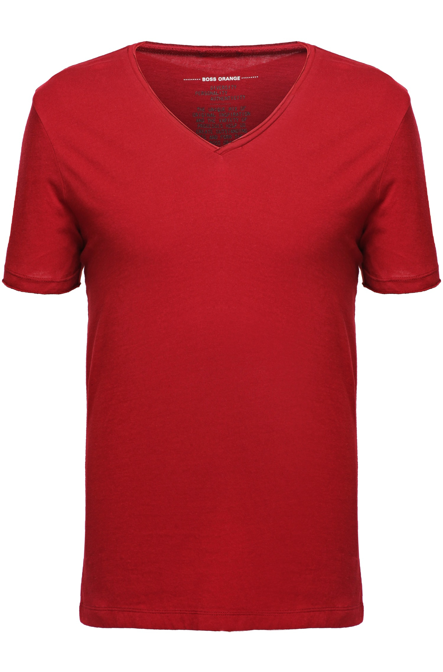 Lyst Boss Orange Cotton T Shirt With V Neck 39 Tooley 39 In