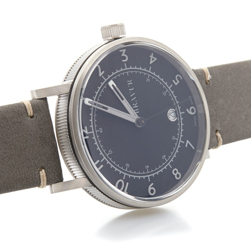bravur matt black dial watch in black for men lyst. Black Bedroom Furniture Sets. Home Design Ideas