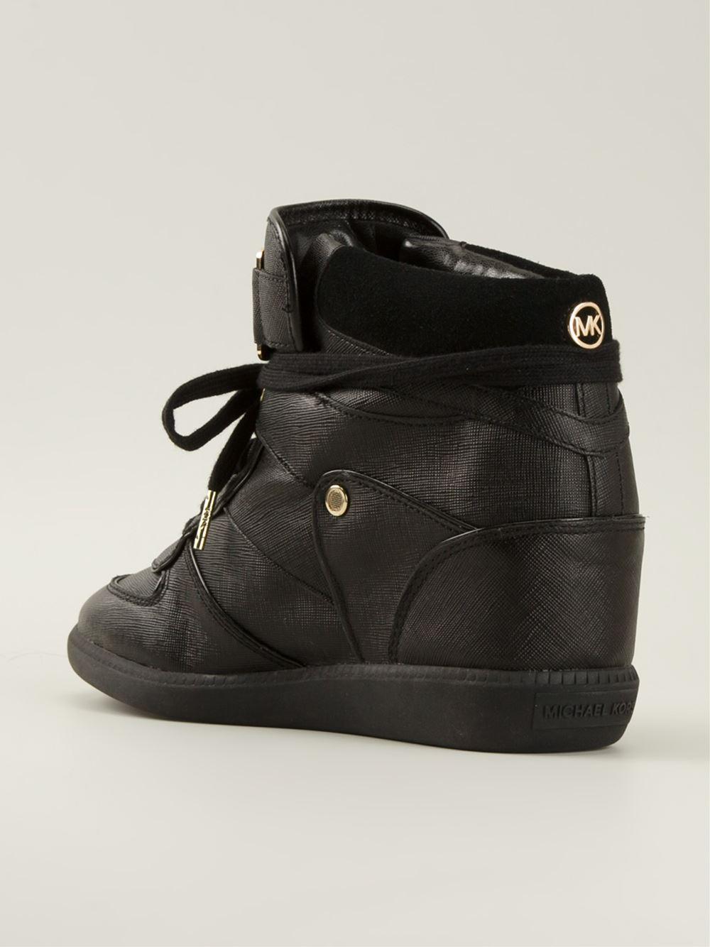 0813a552caa Lyst - MICHAEL Michael Kors Concealed Wedge Hi-top Sneakers in Black