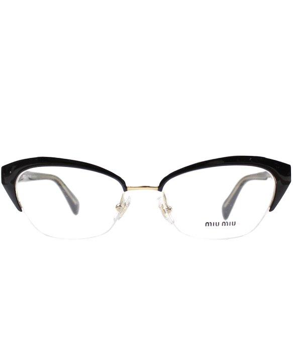 Lyst - Miu Miu Mu 50lv Lax1o1 Plastic Cat Eye Eyeglasses in Black