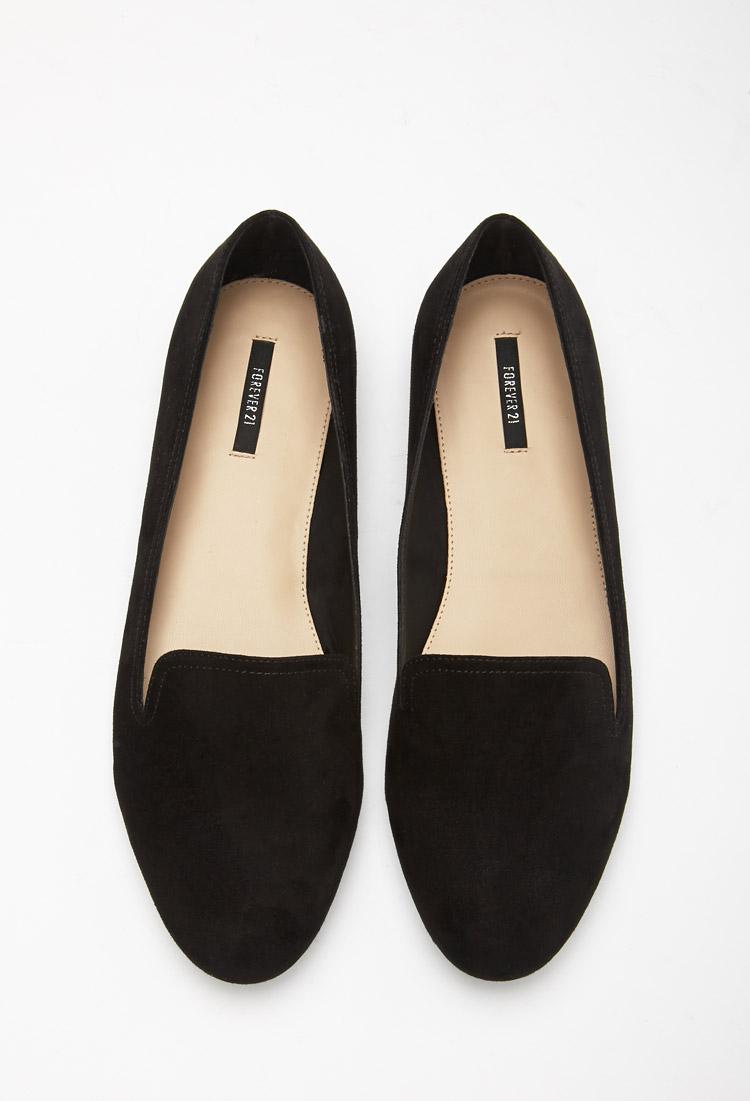forever 21 svart loafers online shop