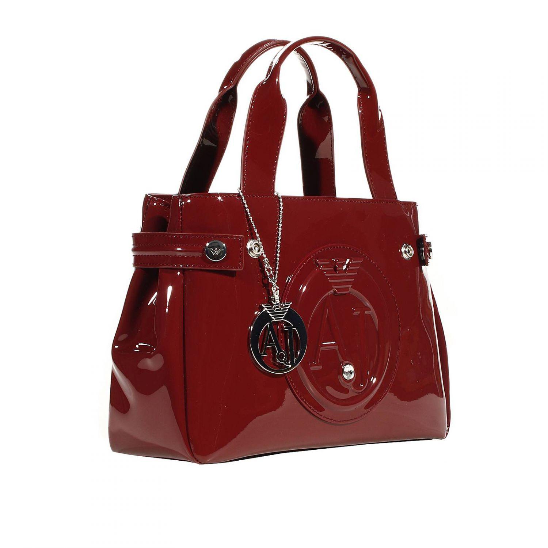 0d631069fa08 ... Armani jeans Handbag Patent Leather Classic Mini Shopping Bag + Rh  29x20x10 Cm in Purple the ...