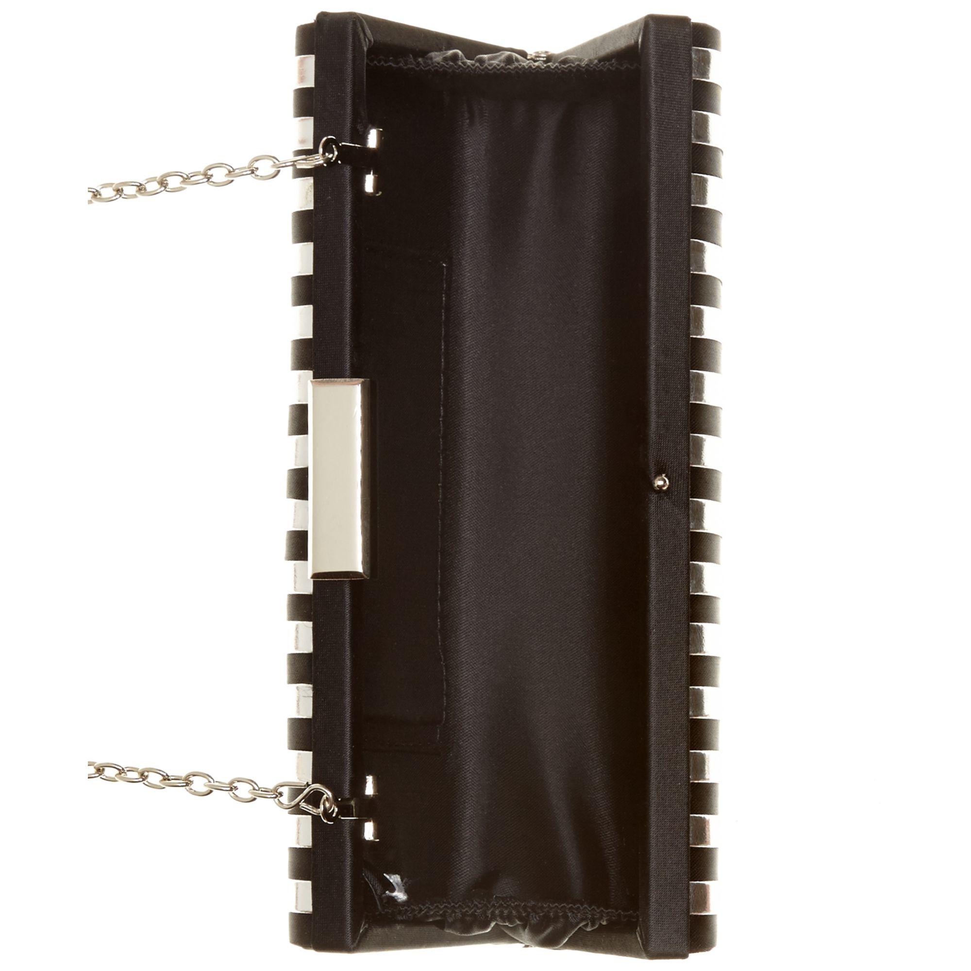 la regale metallic stripe evening clutch in black black. Black Bedroom Furniture Sets. Home Design Ideas