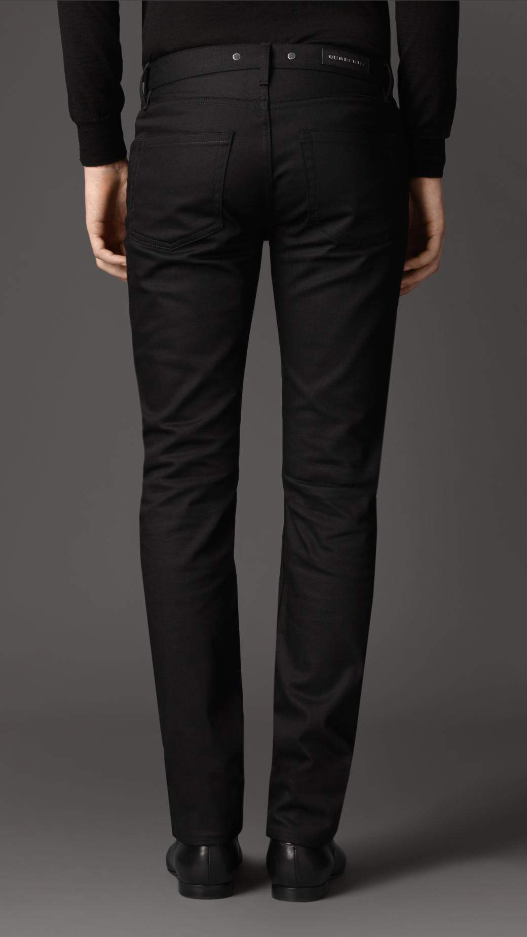 Lyst Burberry Steadman Black Slim Fit Jeans In Black For Men