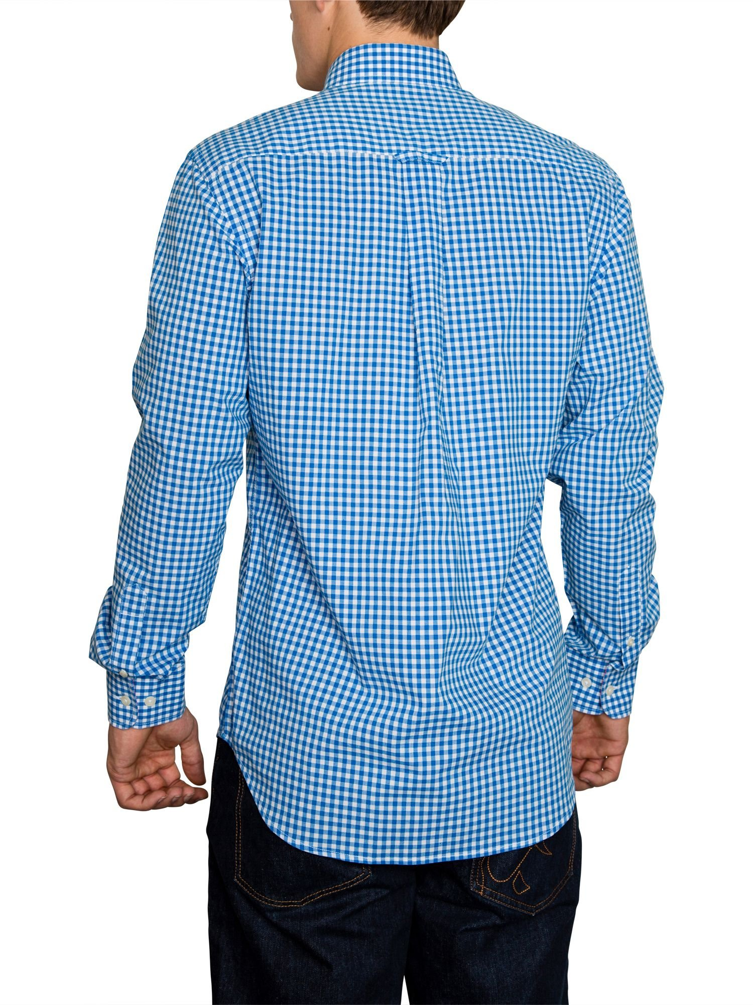 Raging Bull Signature Gingham Long Sleeve Button Down
