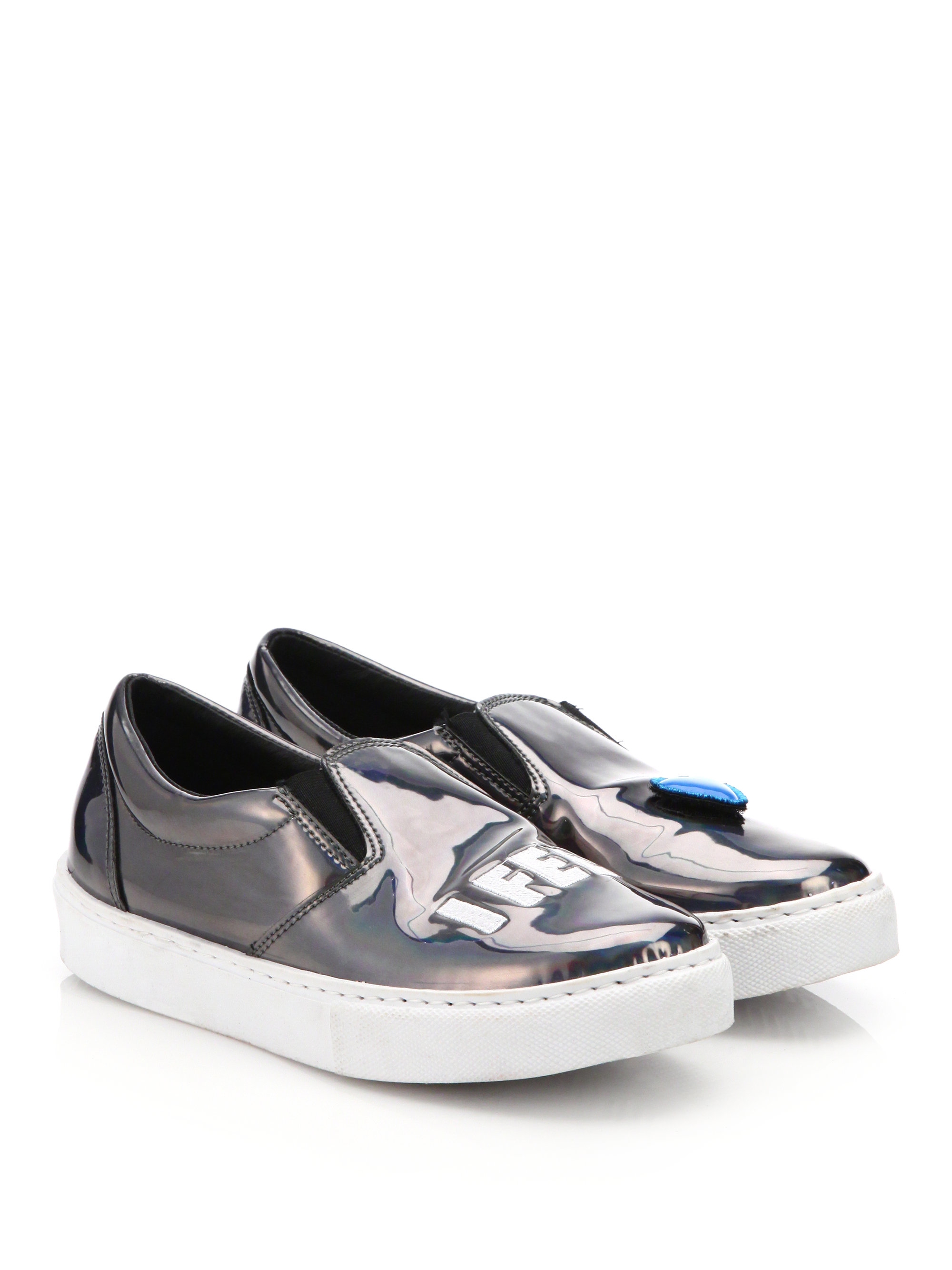 chiara ferragni i feel heart patent leather skate shoes lyst. Black Bedroom Furniture Sets. Home Design Ideas
