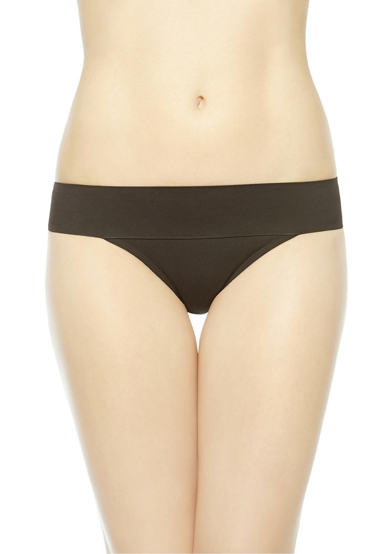 la perla mid rise bikini briefs in black lyst