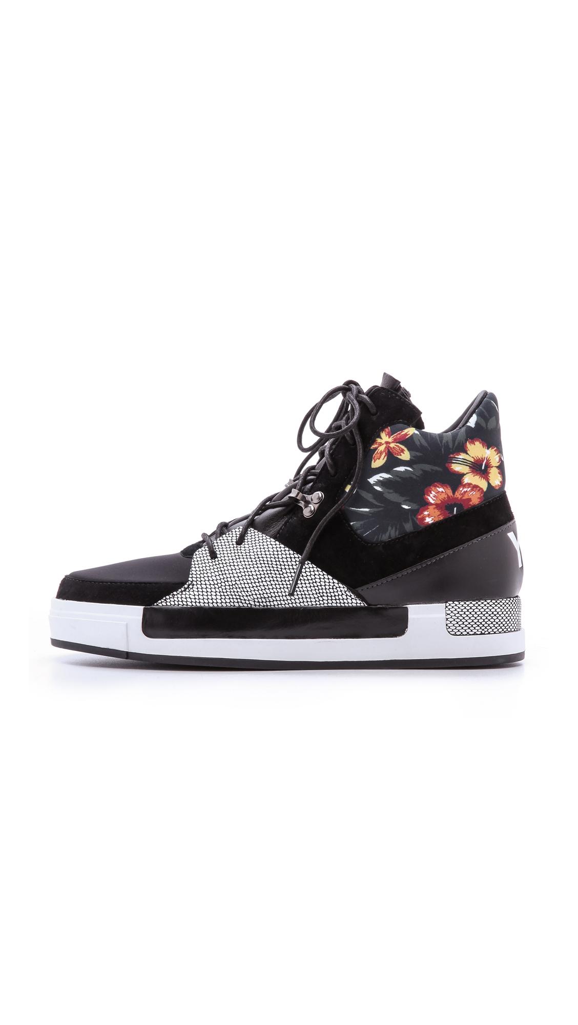 Y-3 Riyal Ii High Top Sneakers - Black/Graphic/White