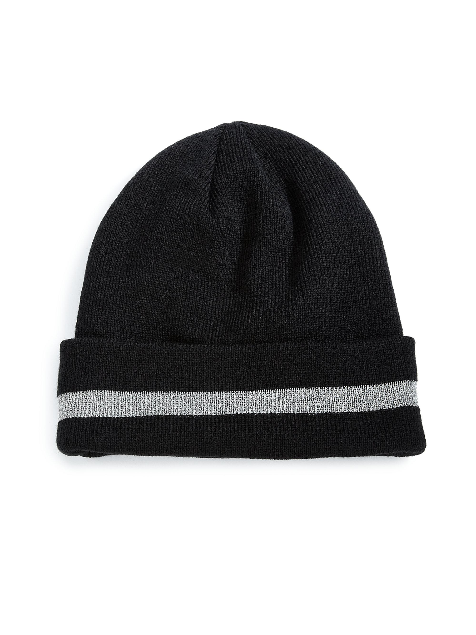 25dfce90 Gents Stripe Reflective Beanie in Black for Men - Lyst