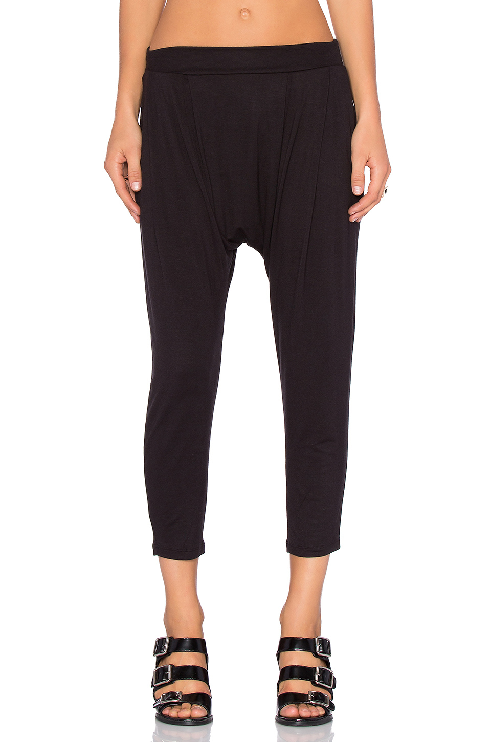 Lyst - Craft & Commerce Stretch-Jersey Harem Pants in Black