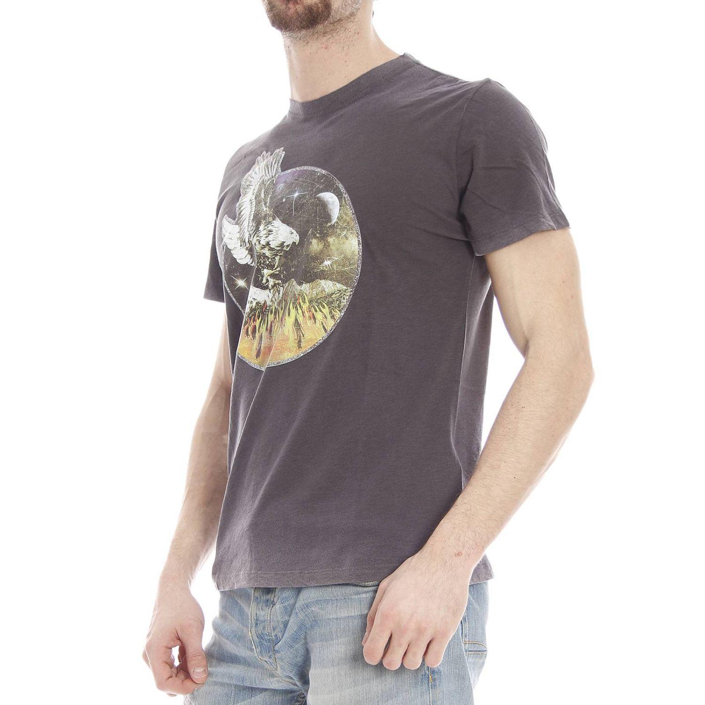 diesel gray t shirt short sleeve crewneck print eagle for men lyst. Black Bedroom Furniture Sets. Home Design Ideas