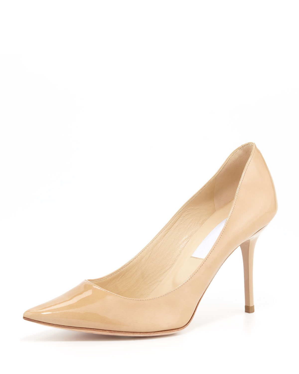 Jimmy Choo Abel Leather Pointy-Toe Pump, Nude | Neiman Marcus