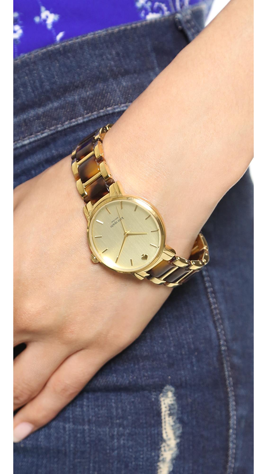 Two Tone Tortoise Gramercy Bracelet Watch
