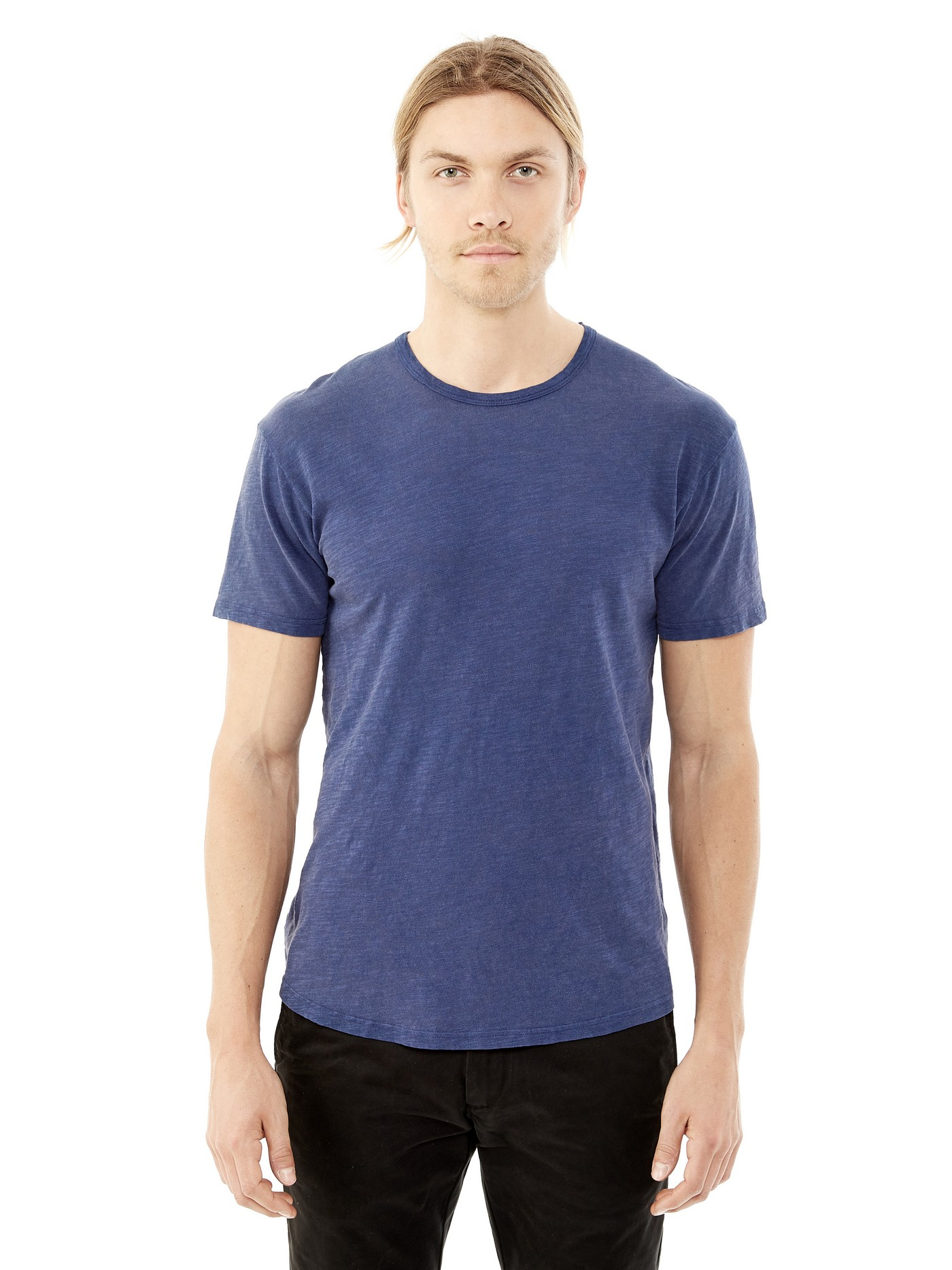 Lyst alternative apparel washed out slub crew t shirt in for What is a slub shirt
