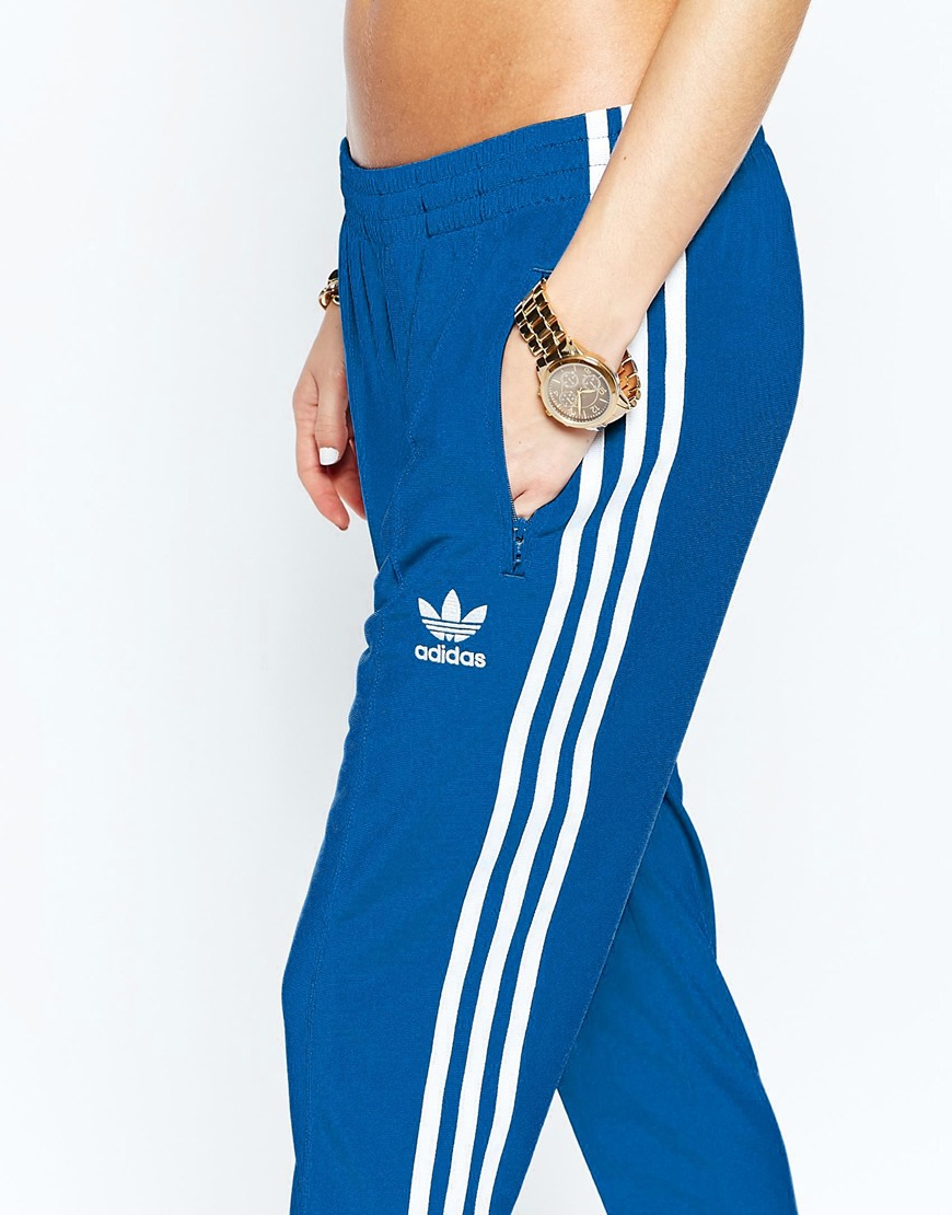 Adidas Originals Originals Adicolour Supergirl Track Pant With 3 Stripe Eqt Blue S16