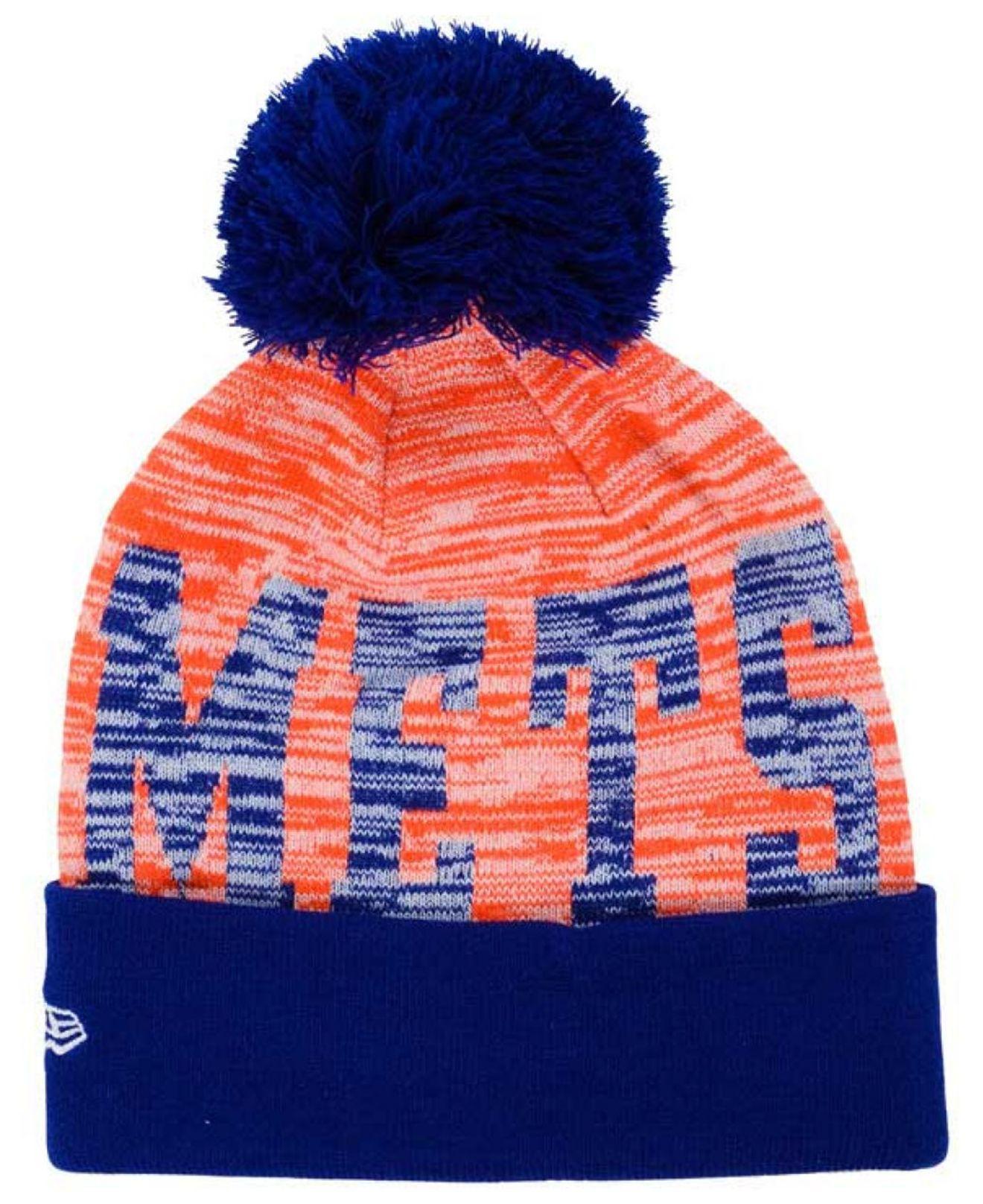 6ac5499db KTZ Orange New York Mets Word Fuzz Knit Hat for men