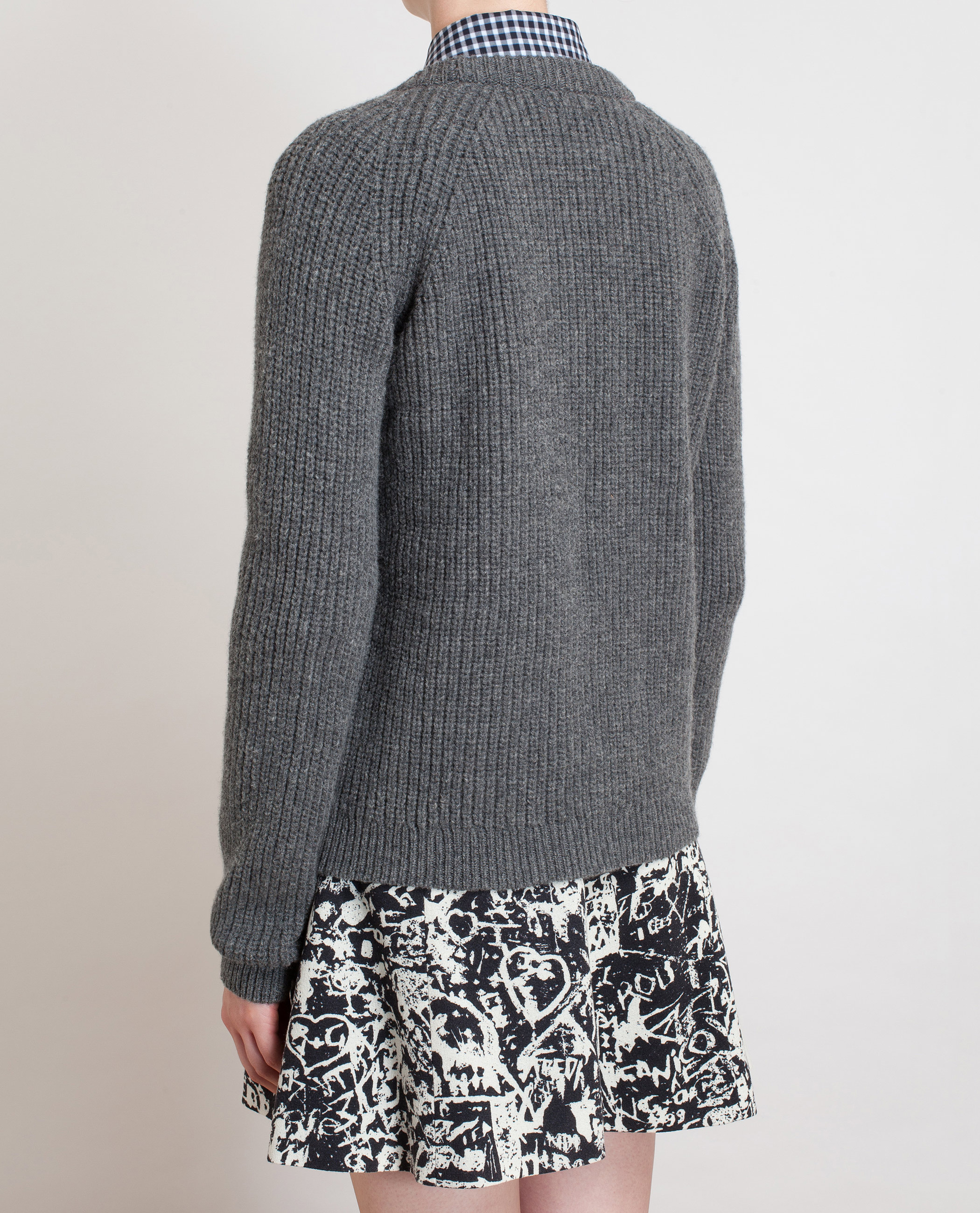 Chinti & parker Ribbed Knit Jumper in Gray (grey) Lyst