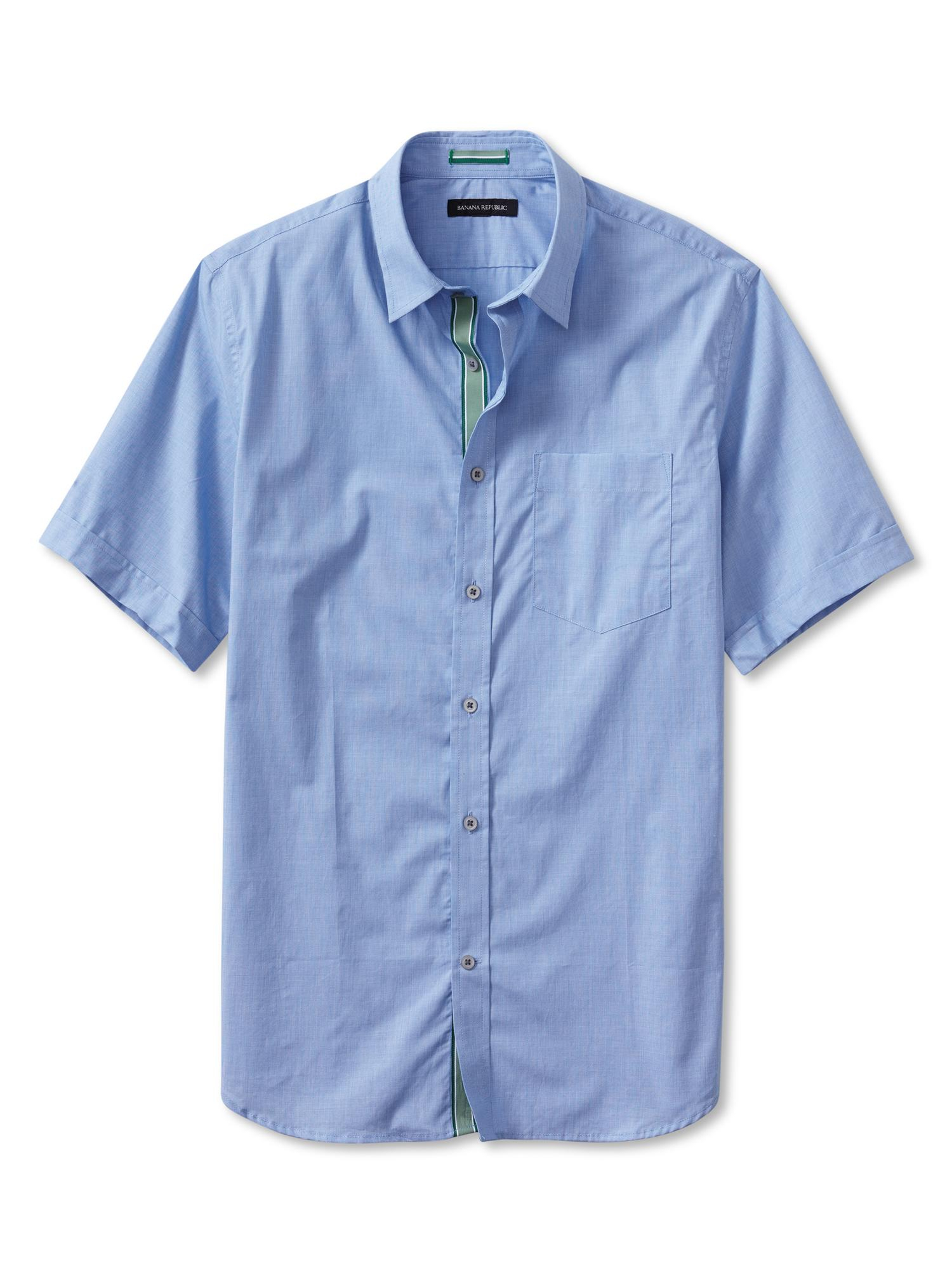 Banana Republic Tailored Slim Fit Button Down Short Sleeve