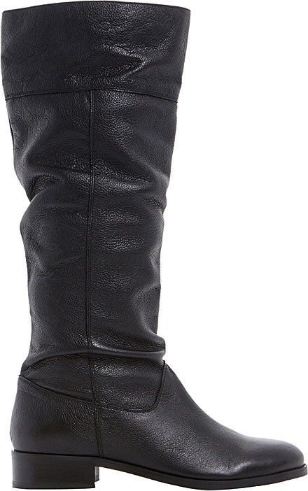 dune tymone leather knee high boots in black lyst