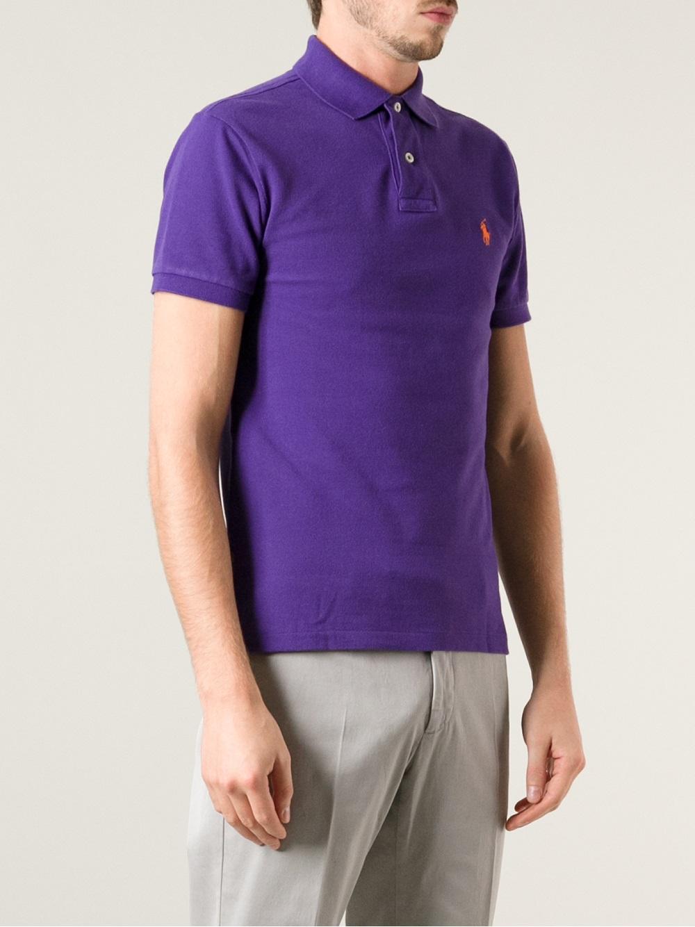 Lyst Polo Ralph Lauren Short Sleeve Polo Shirt In Purple